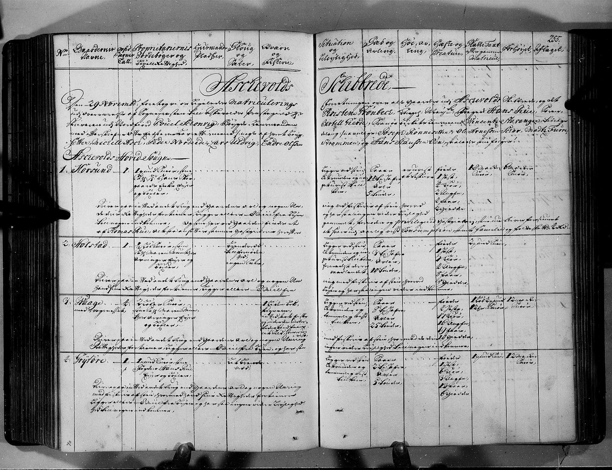 RA, Rentekammeret inntil 1814, Realistisk ordnet avdeling, N/Nb/Nbf/L0146: Sunnfjord og Nordfjord eksaminasjonsprotokoll, 1723, s. 254b-255a