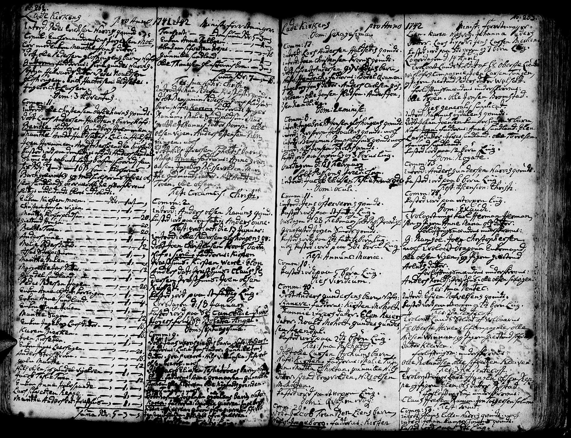 SAT, Ministerialprotokoller, klokkerbøker og fødselsregistre - Sør-Trøndelag, 606/L0275: Ministerialbok nr. 606A01 /1, 1727-1780, s. 262-263