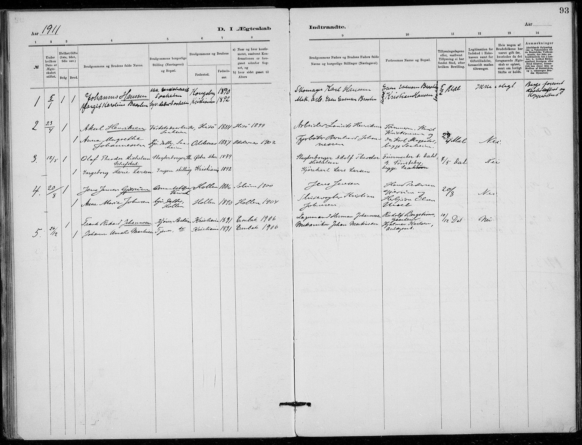 SAKO, Tinn kirkebøker, F/Fb/L0002: Ministerialbok nr. II 2, 1878-1917, s. 93