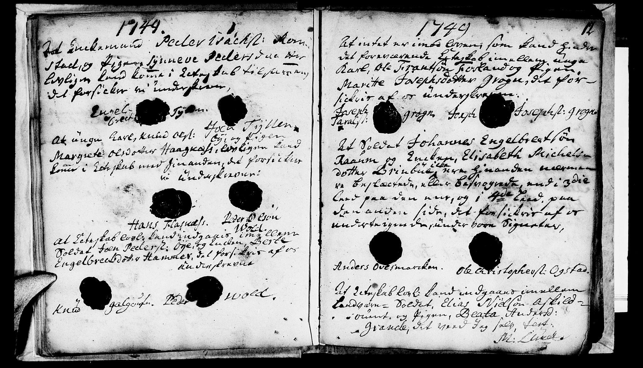 SAT, Ministerialprotokoller, klokkerbøker og fødselsregistre - Nord-Trøndelag, 764/L0541: Ministerialbok nr. 764A01, 1745-1758, s. 12