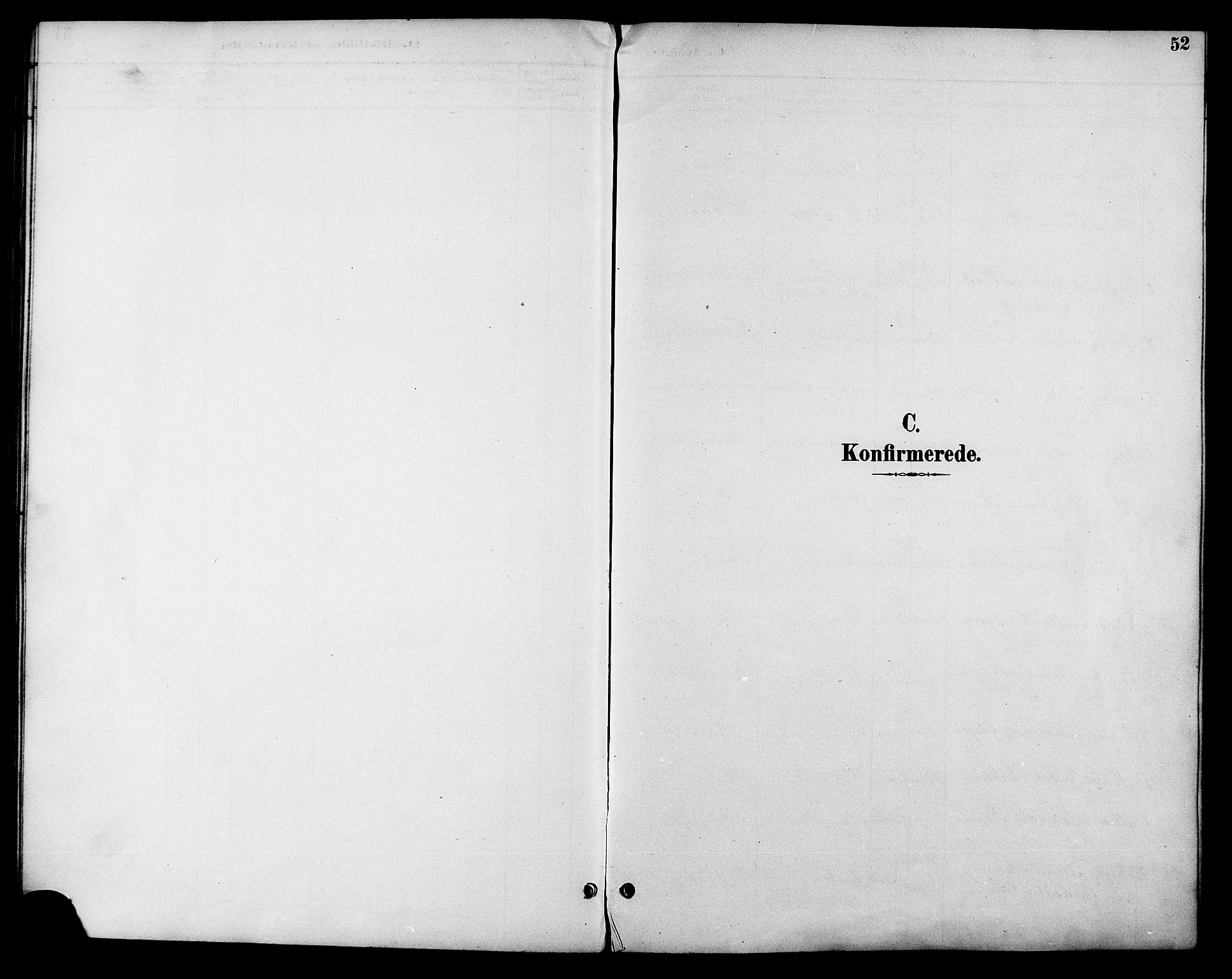 SAT, Ministerialprotokoller, klokkerbøker og fødselsregistre - Sør-Trøndelag, 685/L0978: Klokkerbok nr. 685C03, 1891-1907, s. 52