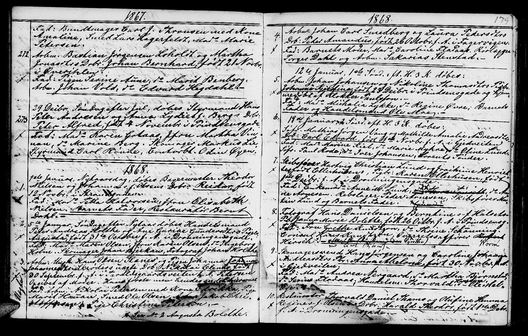 SAT, Ministerialprotokoller, klokkerbøker og fødselsregistre - Sør-Trøndelag, 602/L0140: Klokkerbok nr. 602C08, 1864-1872, s. 178-179