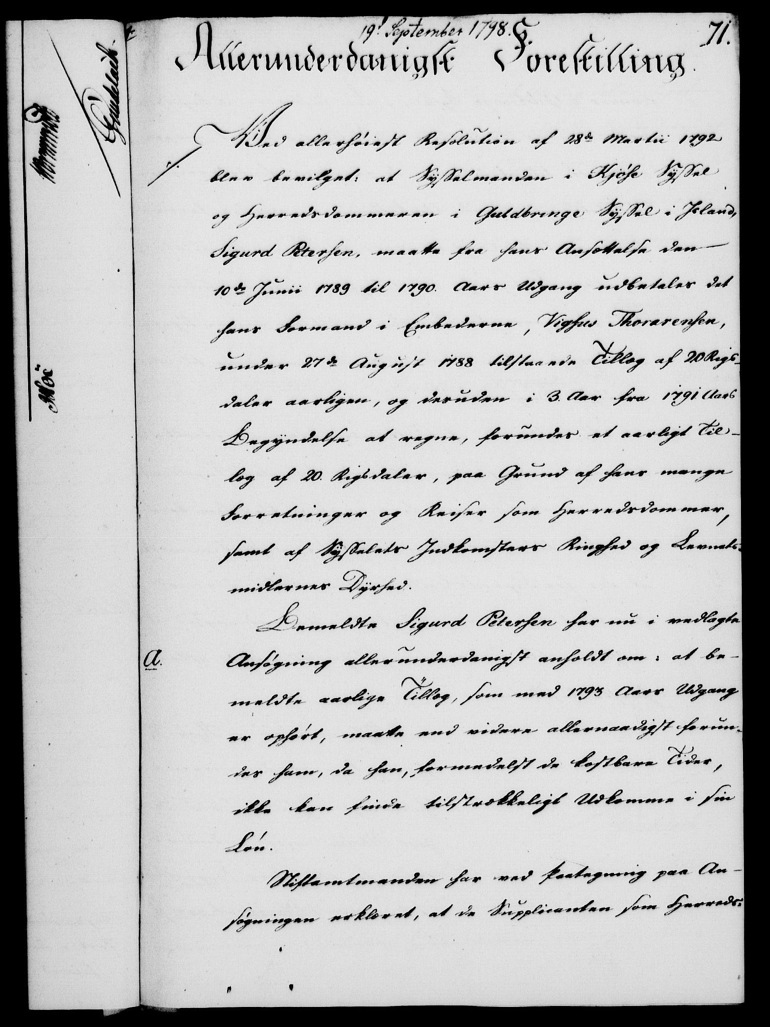 RA, Rentekammeret, Kammerkanselliet, G/Gf/Gfa/L0080: Norsk relasjons- og resolusjonsprotokoll (merket RK 52.80), 1798, s. 472