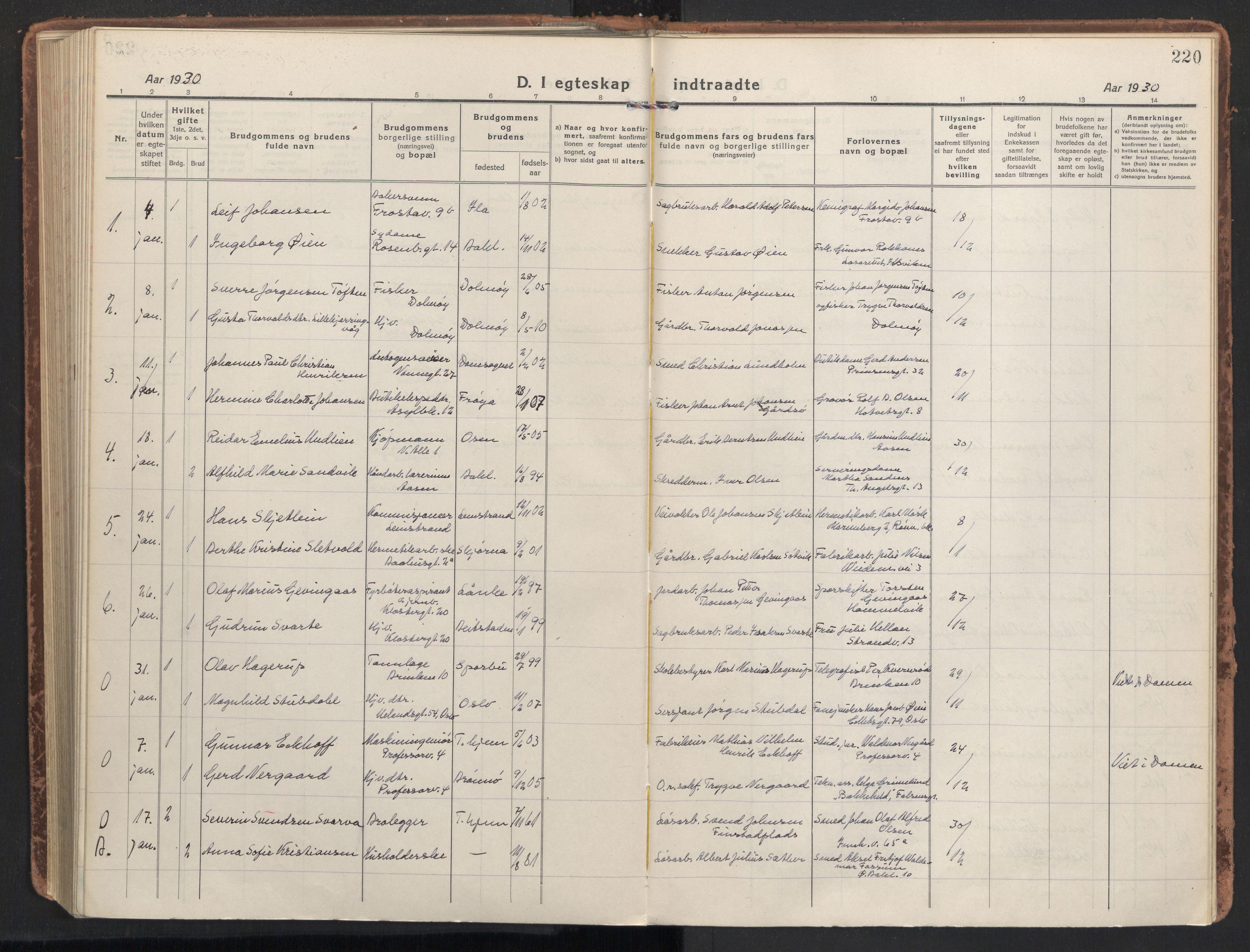 SAT, Ministerialprotokoller, klokkerbøker og fødselsregistre - Sør-Trøndelag, 604/L0206: Ministerialbok nr. 604A26, 1917-1931, s. 220