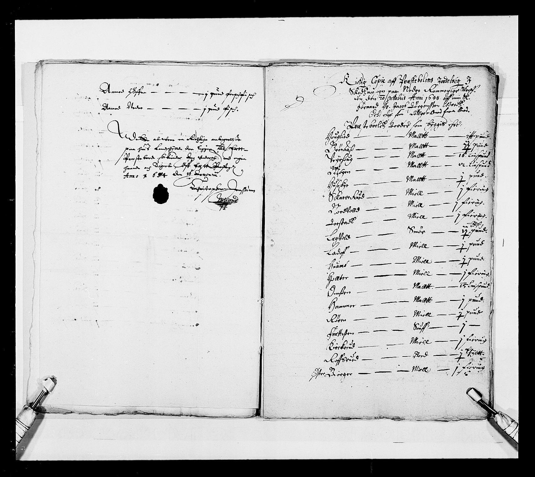 RA, Stattholderembetet 1572-1771, Ek/L0030: Jordebøker 1633-1658:, 1654, s. 204