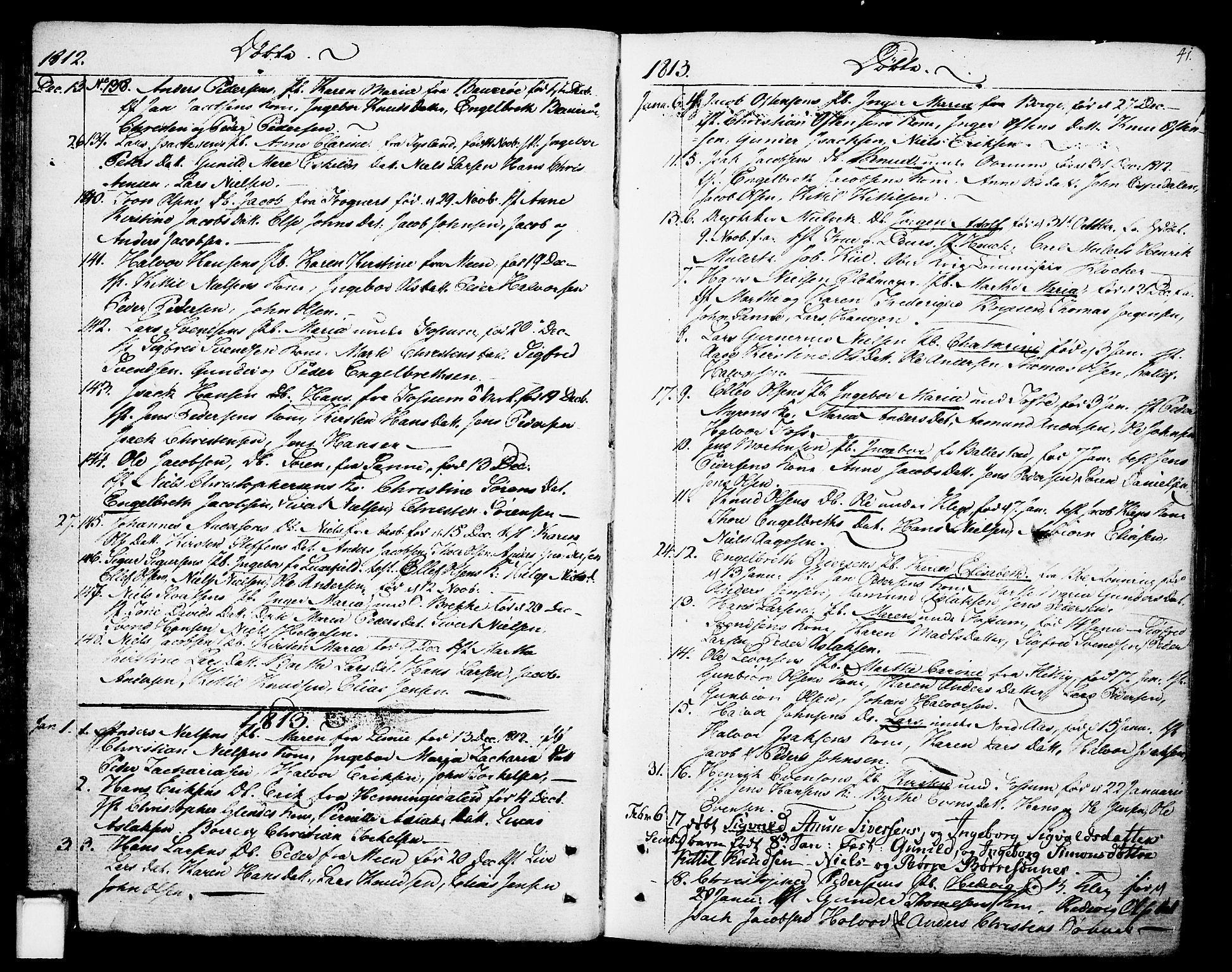 SAKO, Gjerpen kirkebøker, F/Fa/L0003: Ministerialbok nr. 3, 1796-1814, s. 41