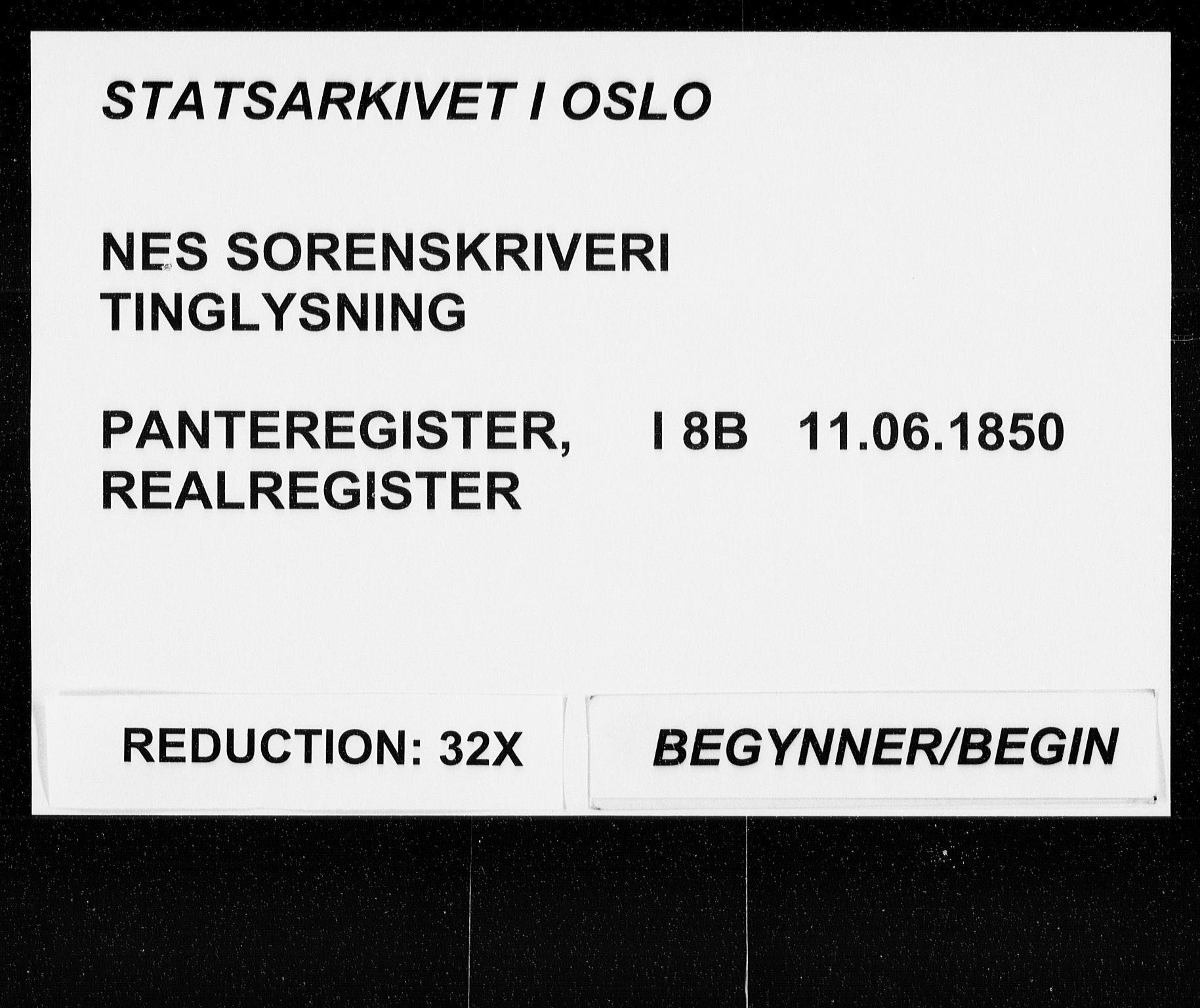 SAO, Nes tingrett, G/Ga/Gab/Gaba/L0008.b: Panteregister nr. I 8b