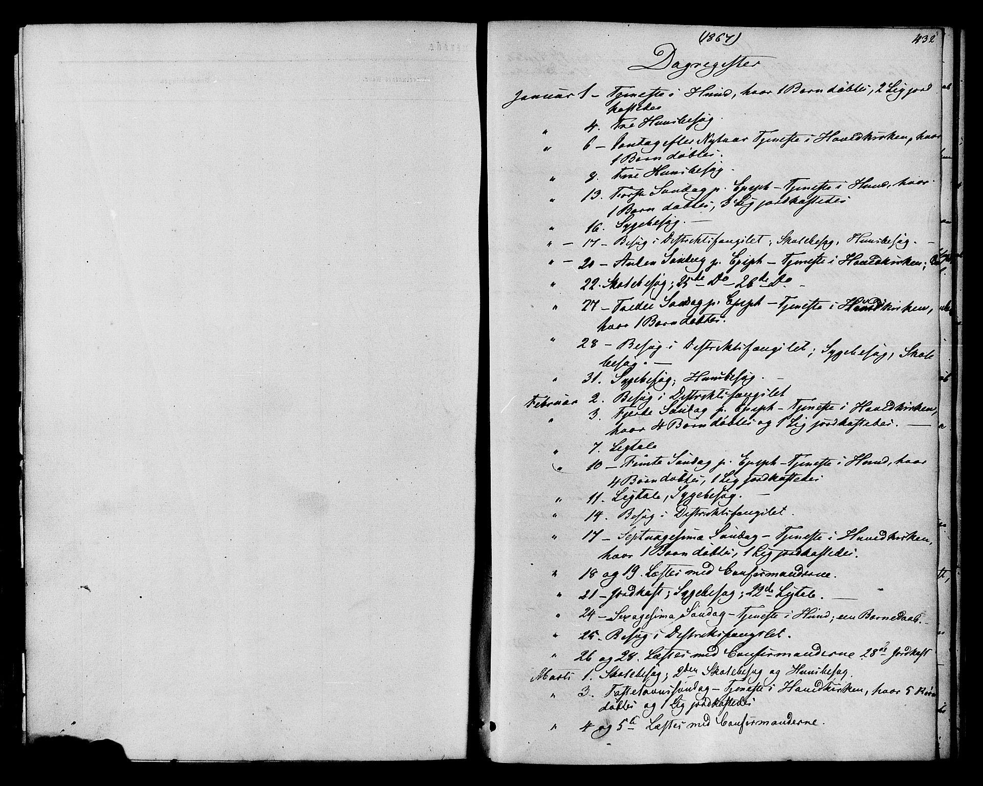 SAH, Vardal prestekontor, H/Ha/Haa/L0007: Ministerialbok nr. 7, 1867-1878, s. 432
