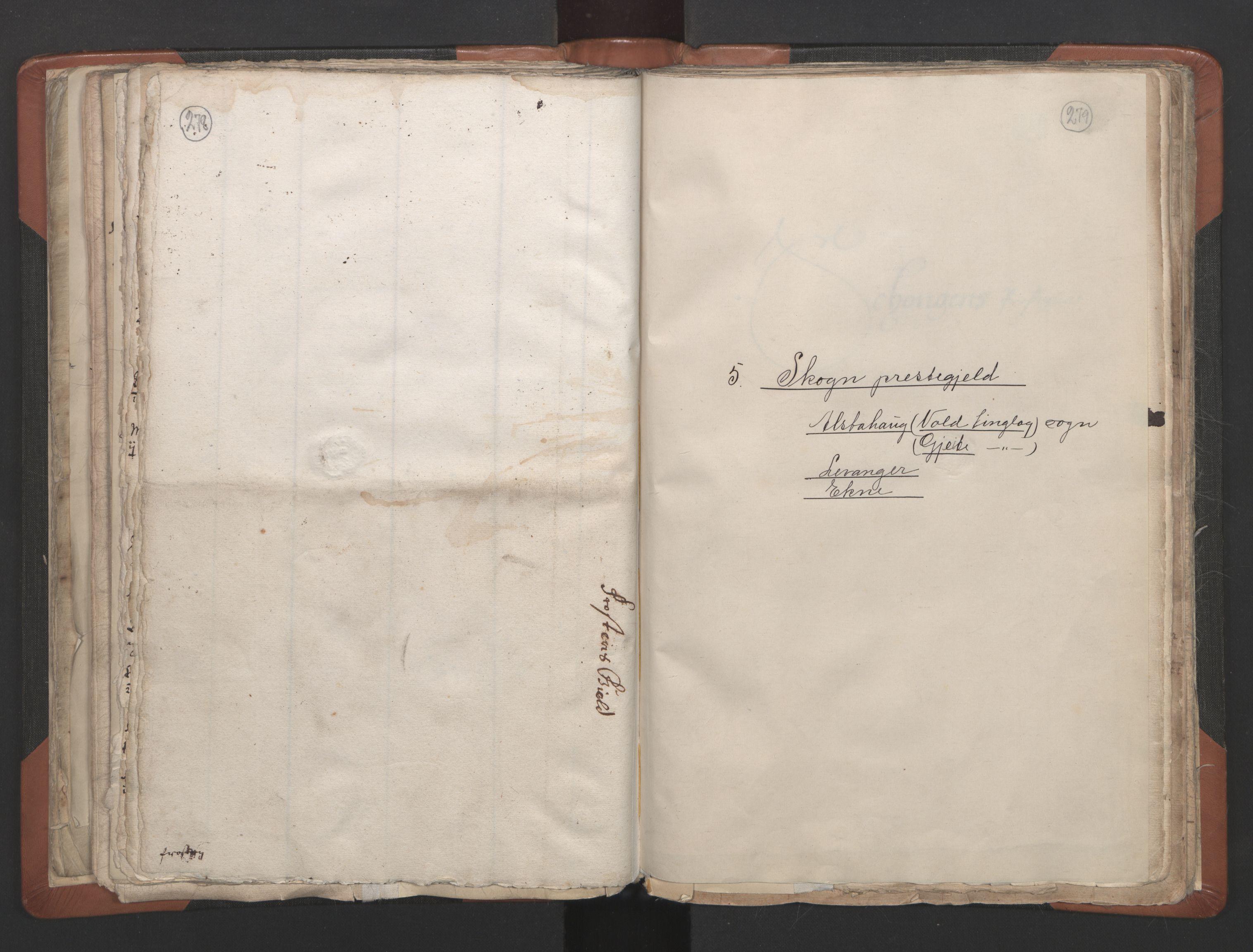 RA, Sogneprestenes manntall 1664-1666, nr. 32: Innherad prosti, 1664-1666, s. 278-279