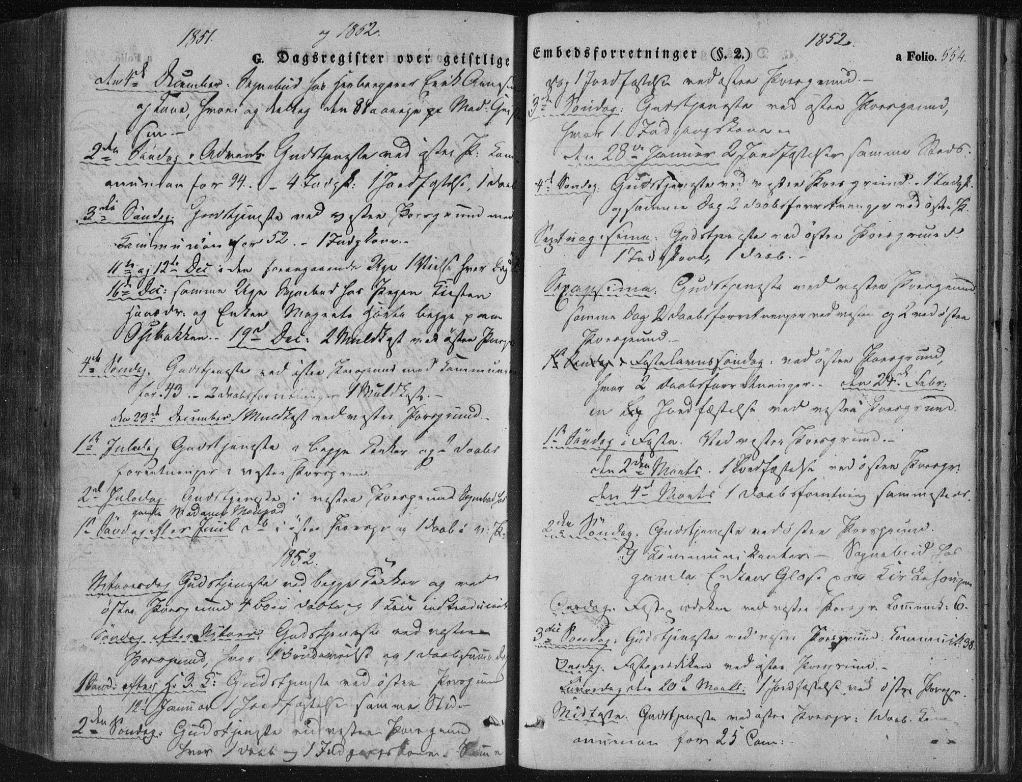 SAKO, Porsgrunn kirkebøker , F/Fa/L0006: Ministerialbok nr. 6, 1841-1857, s. 554