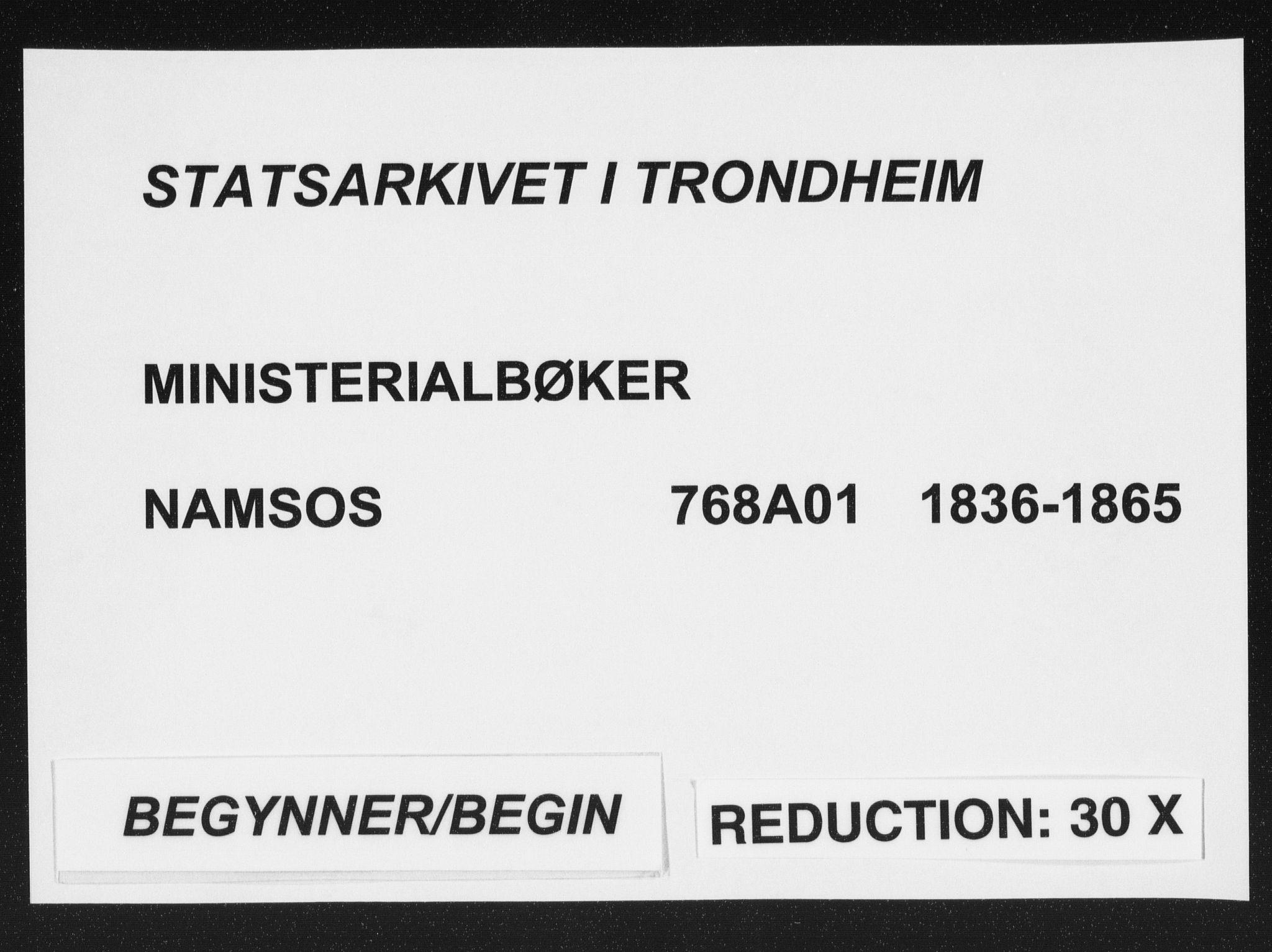 SAT, Ministerialprotokoller, klokkerbøker og fødselsregistre - Nord-Trøndelag, 768/L0566: Ministerialbok nr. 768A01, 1836-1865