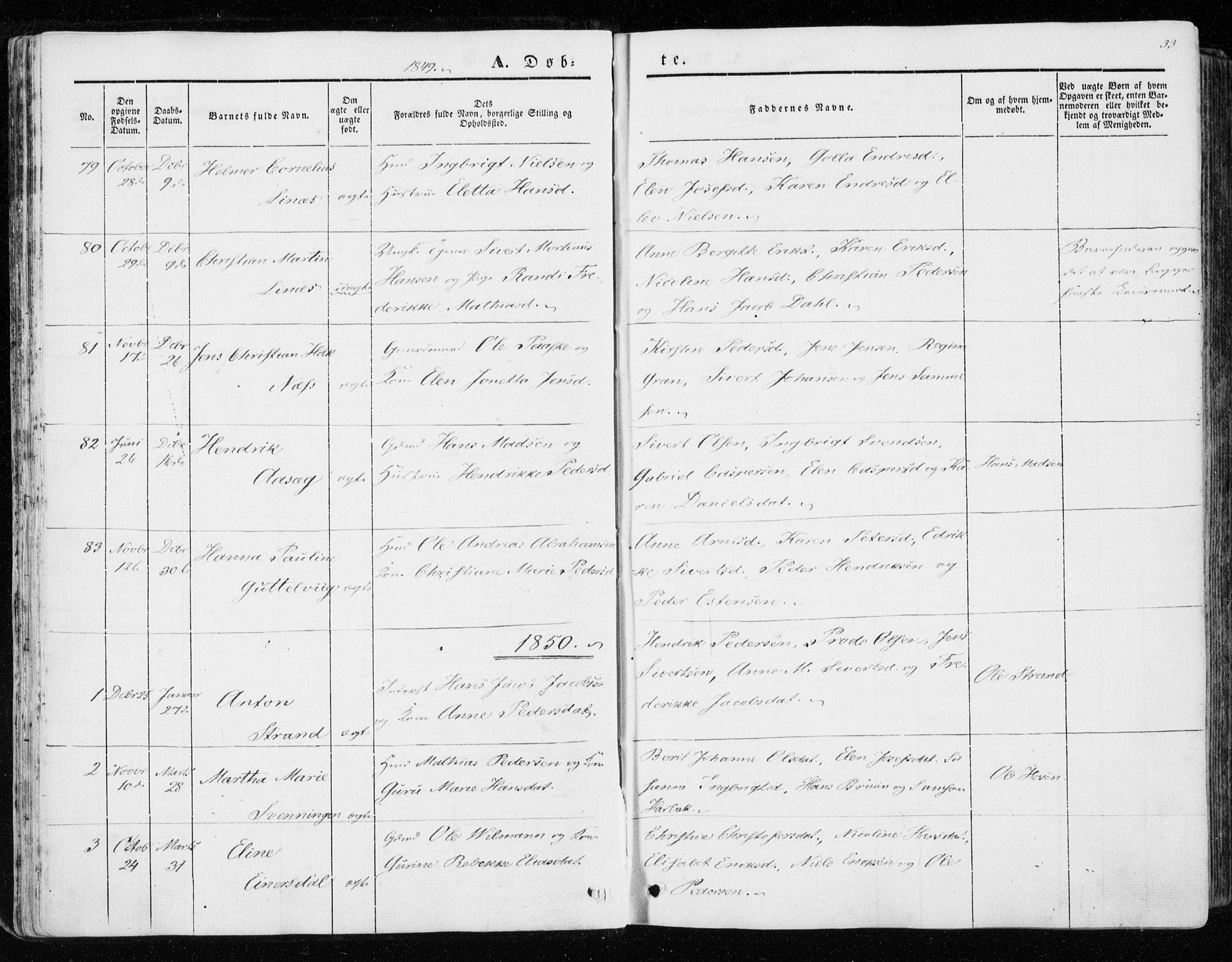SAT, Ministerialprotokoller, klokkerbøker og fødselsregistre - Sør-Trøndelag, 657/L0704: Ministerialbok nr. 657A05, 1846-1857, s. 33