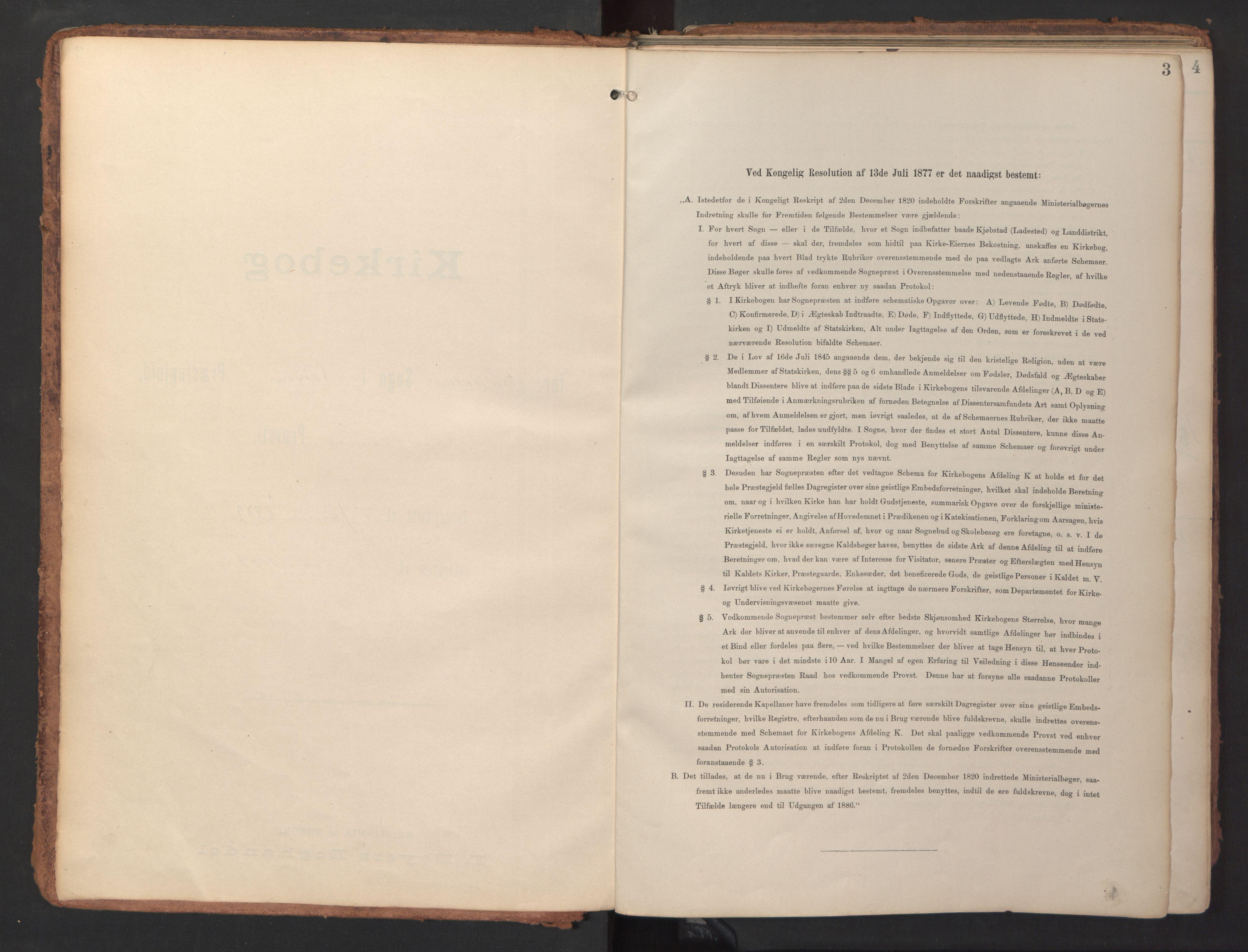 SAT, Ministerialprotokoller, klokkerbøker og fødselsregistre - Sør-Trøndelag, 690/L1050: Ministerialbok nr. 690A01, 1889-1929, s. 3