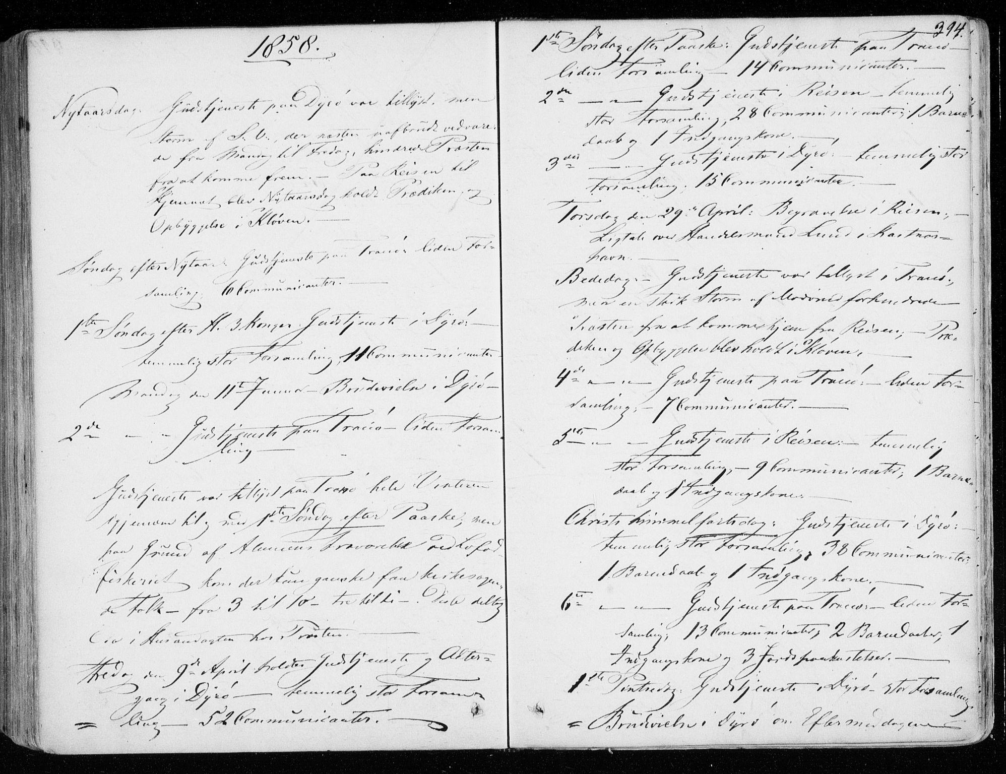 SATØ, Tranøy sokneprestkontor, I/Ia/Iaa/L0007kirke: Ministerialbok nr. 7, 1856-1866, s. 394
