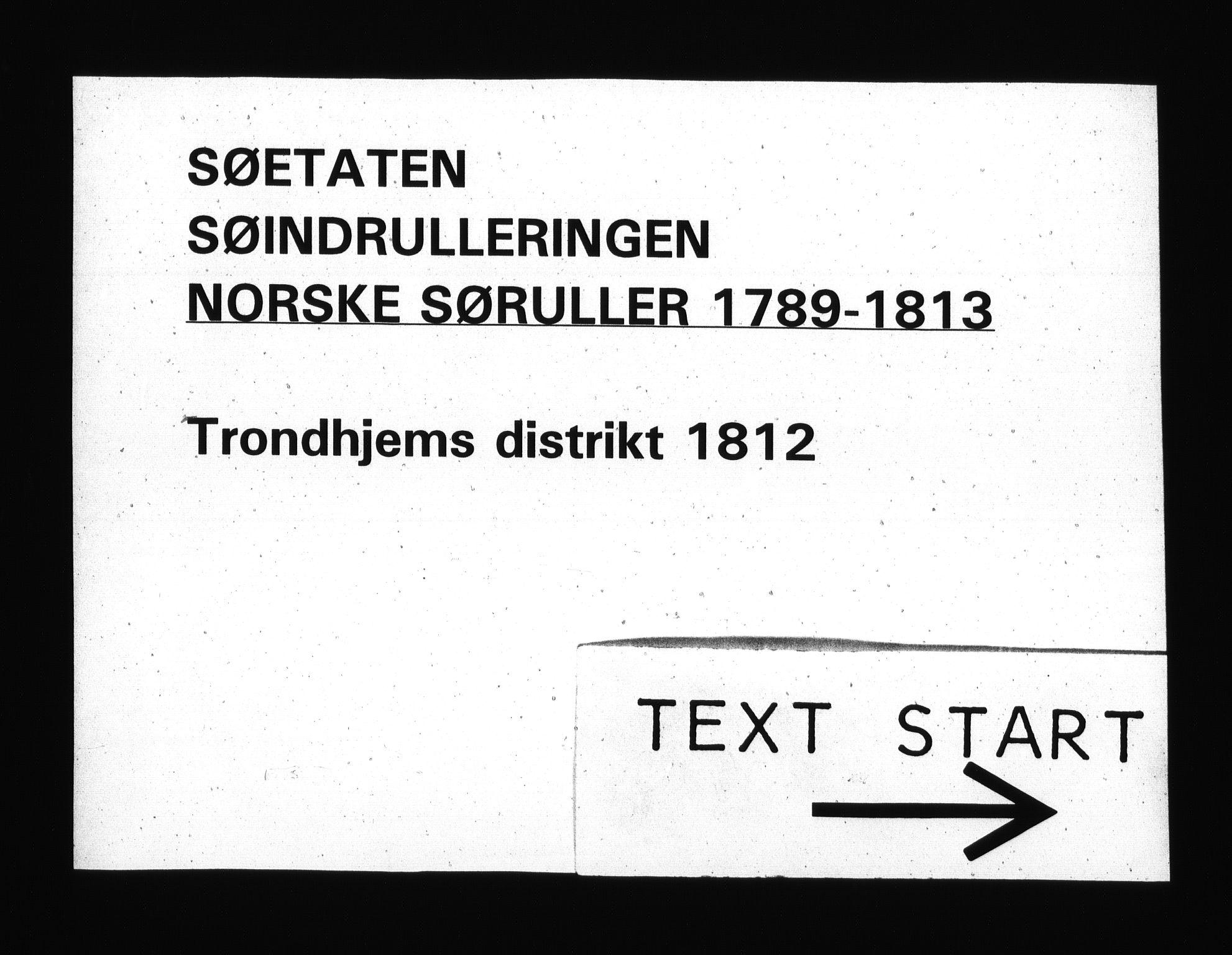 RA, Sjøetaten, F/L0339: Trondheim distrikt, bind 1, 1812