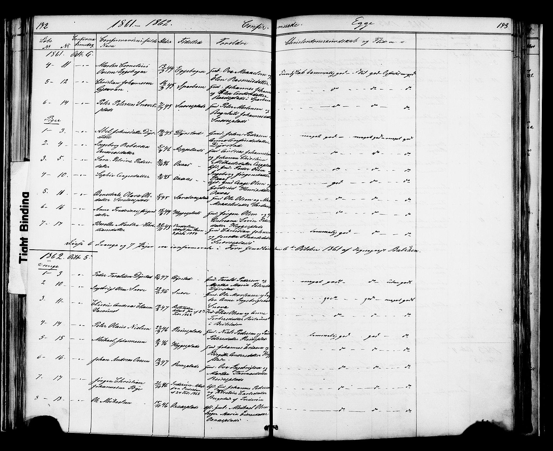 SAT, Ministerialprotokoller, klokkerbøker og fødselsregistre - Nord-Trøndelag, 739/L0367: Ministerialbok nr. 739A01 /3, 1838-1868, s. 192-193