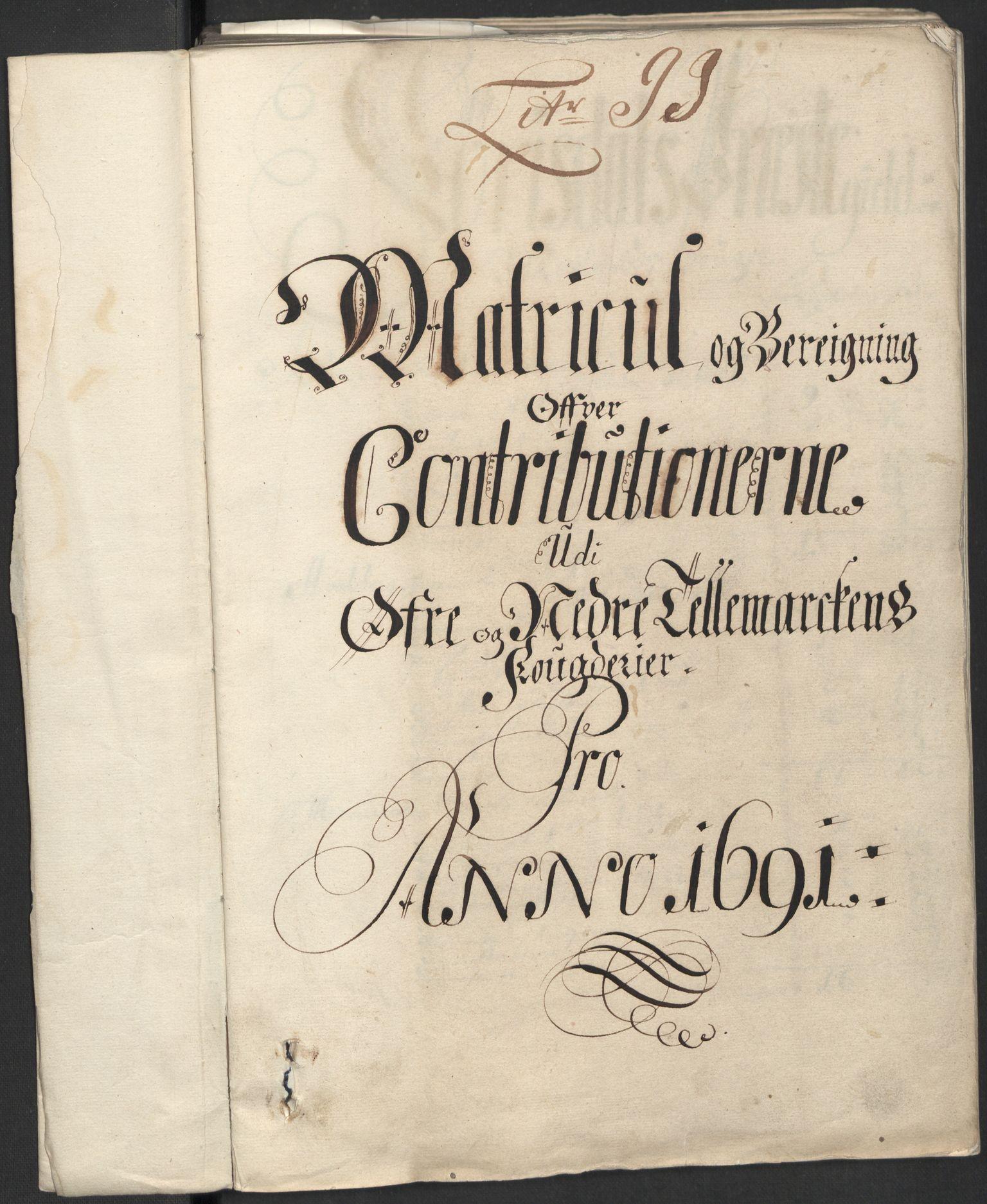 RA, Rentekammeret inntil 1814, Reviderte regnskaper, Fogderegnskap, R35/L2089: Fogderegnskap Øvre og Nedre Telemark, 1690-1692, s. 191
