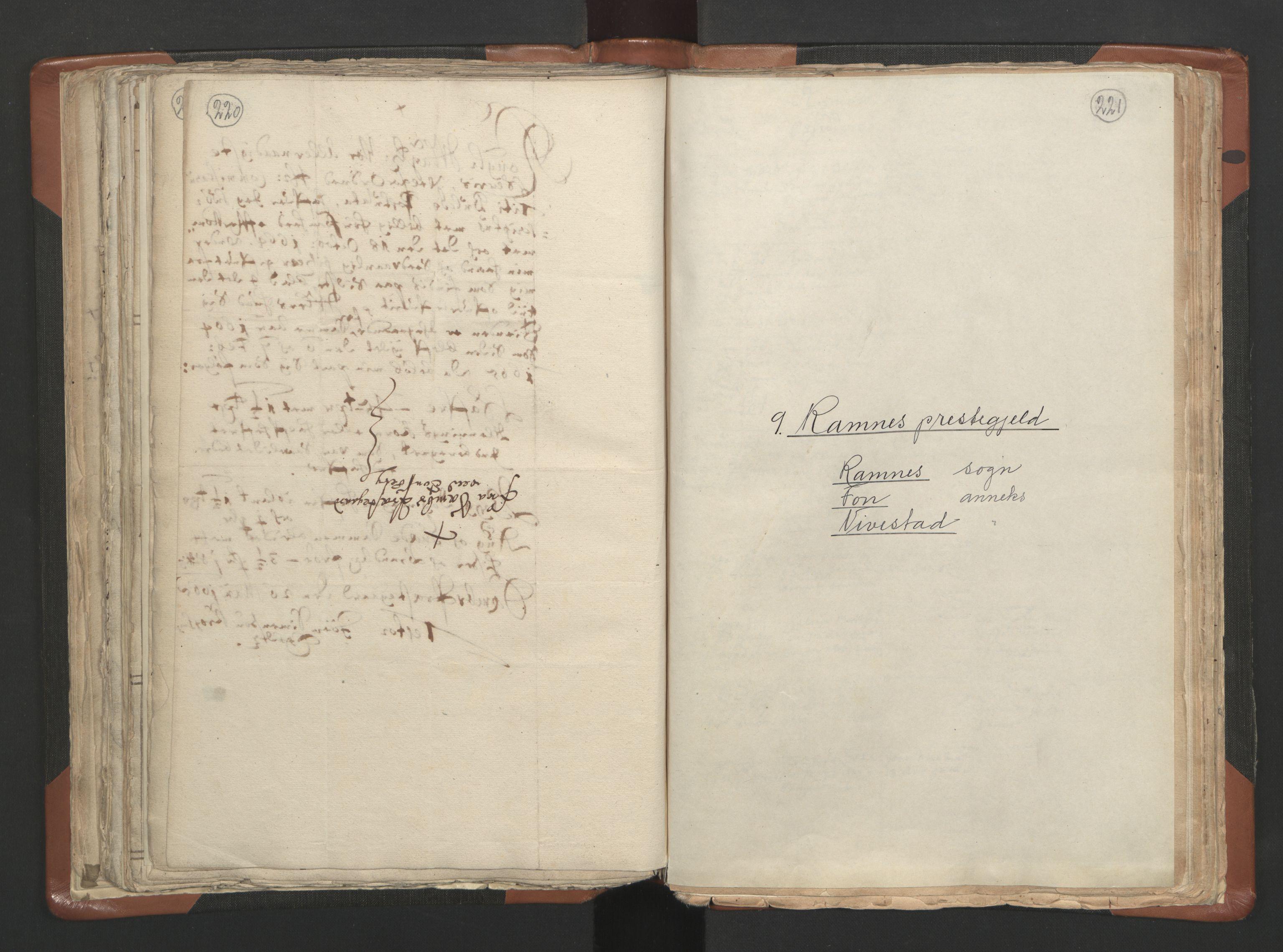 RA, Sogneprestenes manntall 1664-1666, nr. 10: Tønsberg prosti, 1664-1666, s. 220-221