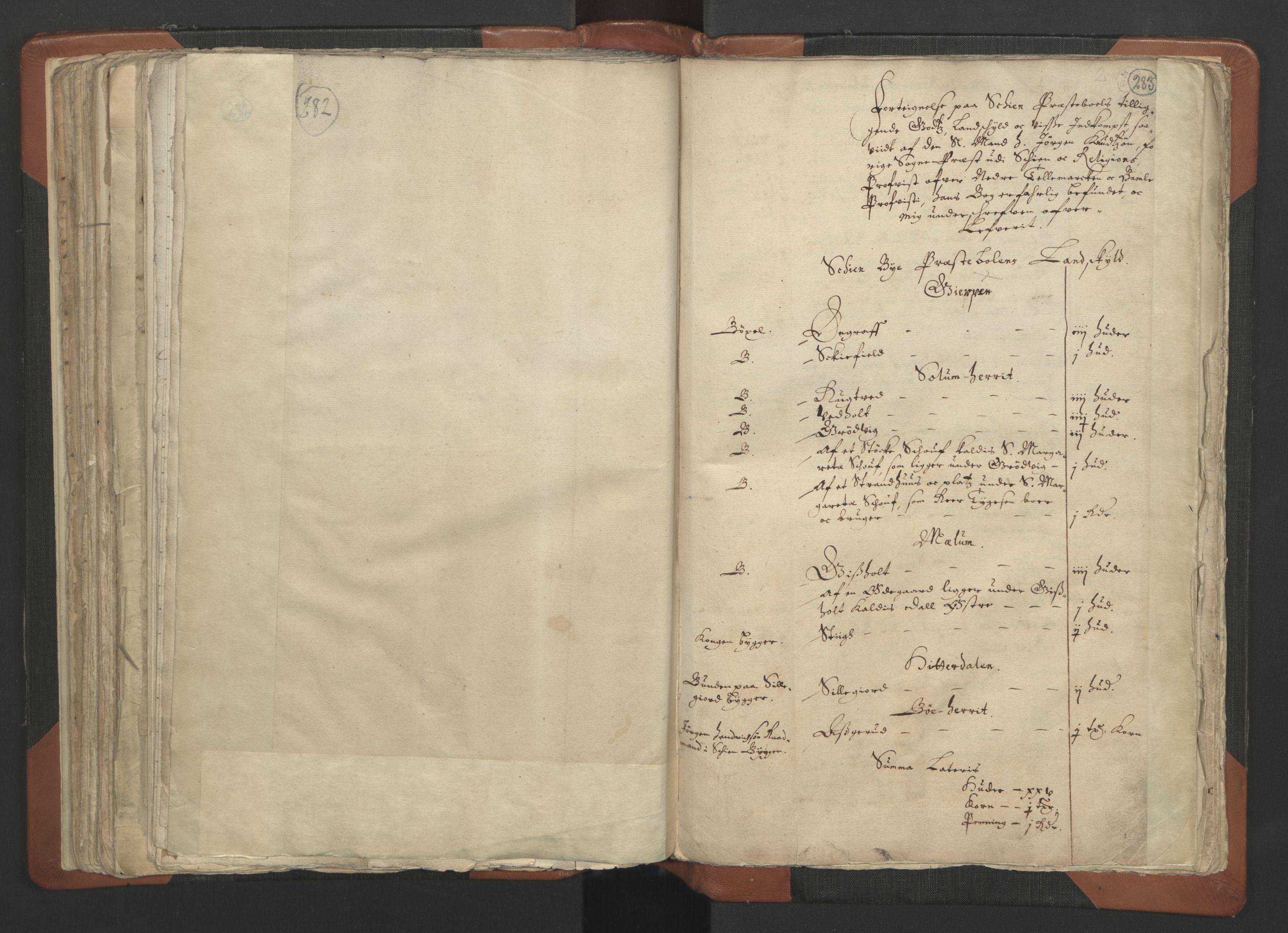 RA, Sogneprestenes manntall 1664-1666, nr. 12: Øvre Telemark prosti, Nedre Telemark prosti og Bamble prosti, 1664-1666, s. 282-283