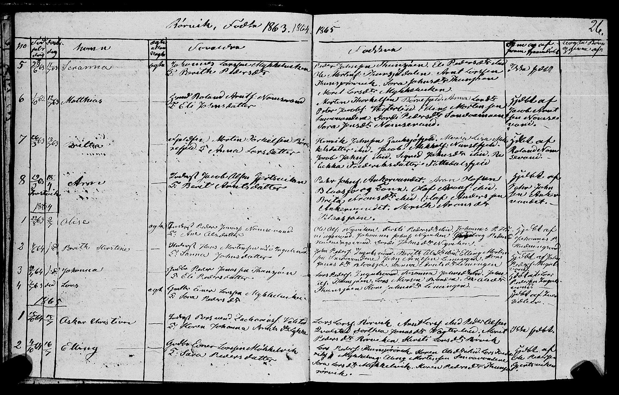 SAT, Ministerialprotokoller, klokkerbøker og fødselsregistre - Nord-Trøndelag, 762/L0538: Ministerialbok nr. 762A02 /1, 1833-1879, s. 26