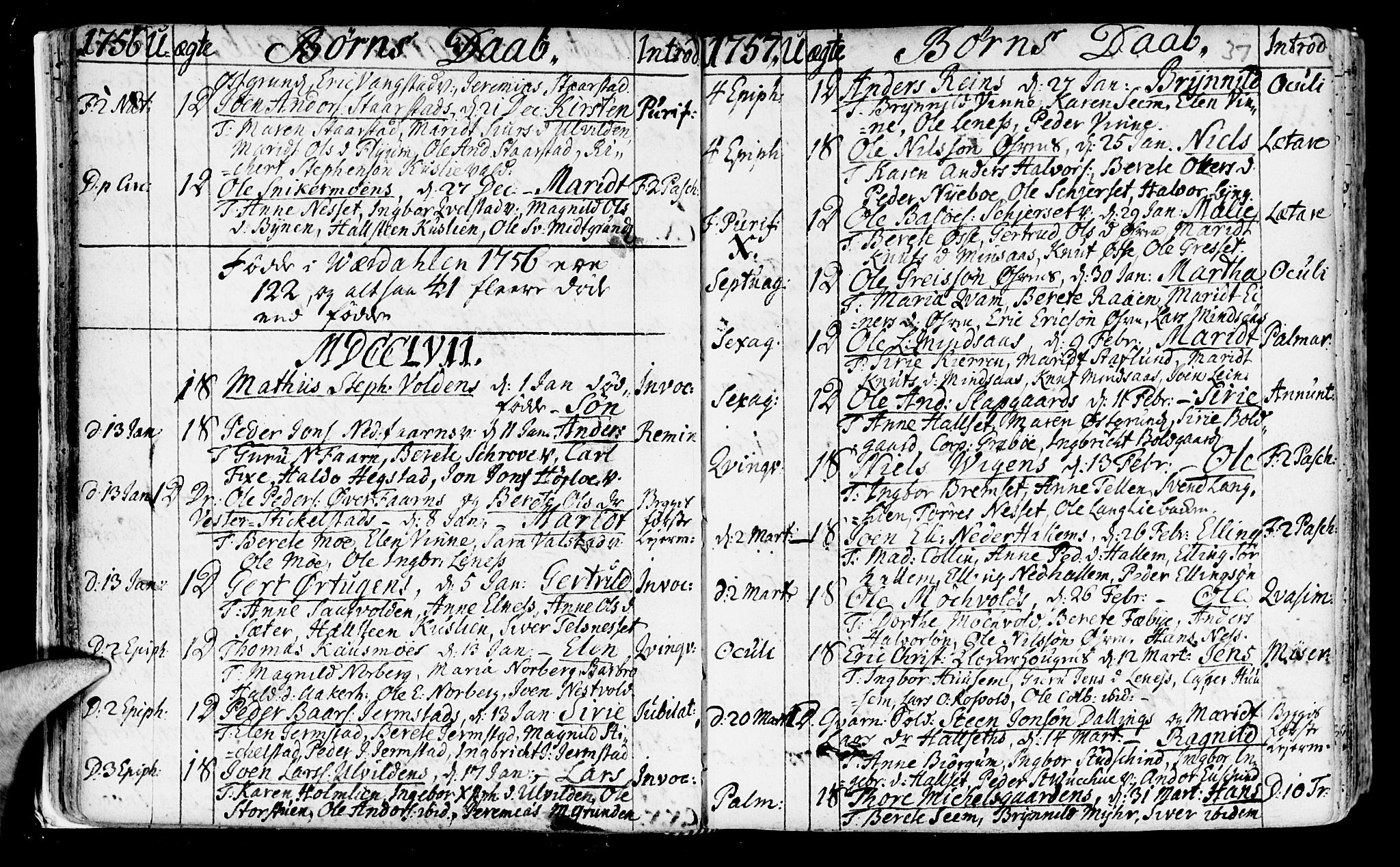 SAT, Ministerialprotokoller, klokkerbøker og fødselsregistre - Nord-Trøndelag, 723/L0231: Ministerialbok nr. 723A02, 1748-1780, s. 37