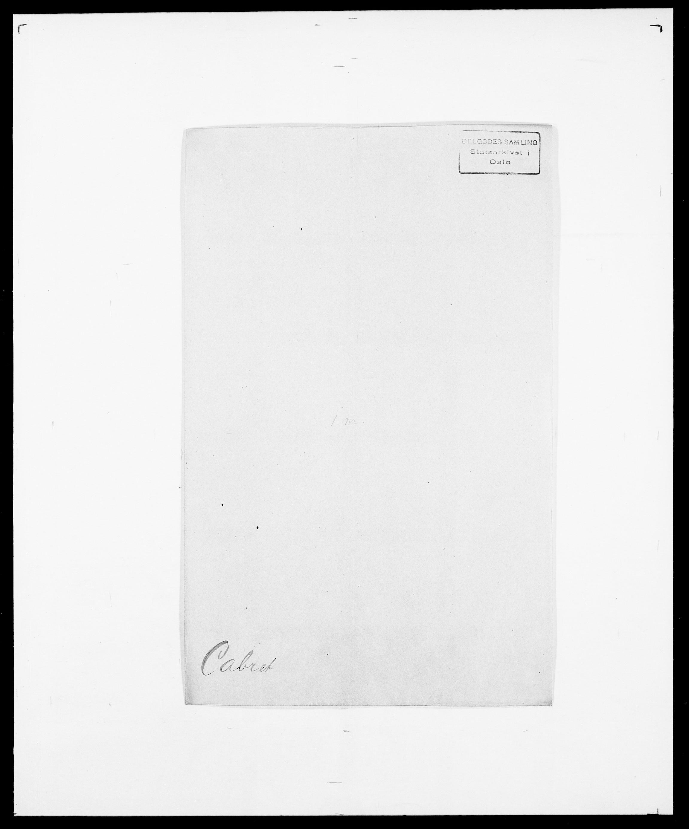 SAO, Delgobe, Charles Antoine - samling, D/Da/L0007: Buaas - Caphengst, s. 812