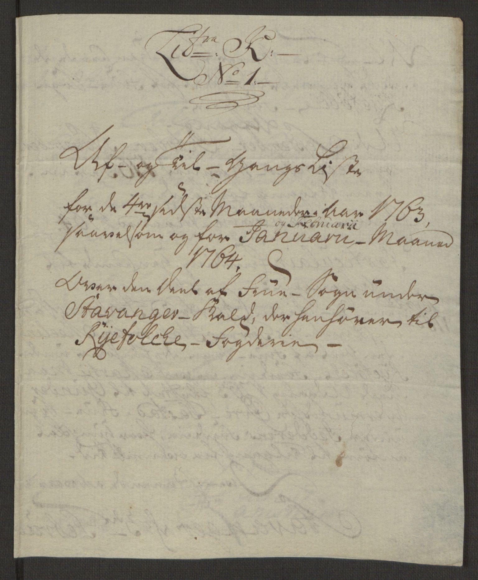 RA, Rentekammeret inntil 1814, Realistisk ordnet avdeling, Ol/L0016b: [Gg 10]: Ekstraskatten, 23.09.1762. Ryfylke, 1764-1768, s. 143