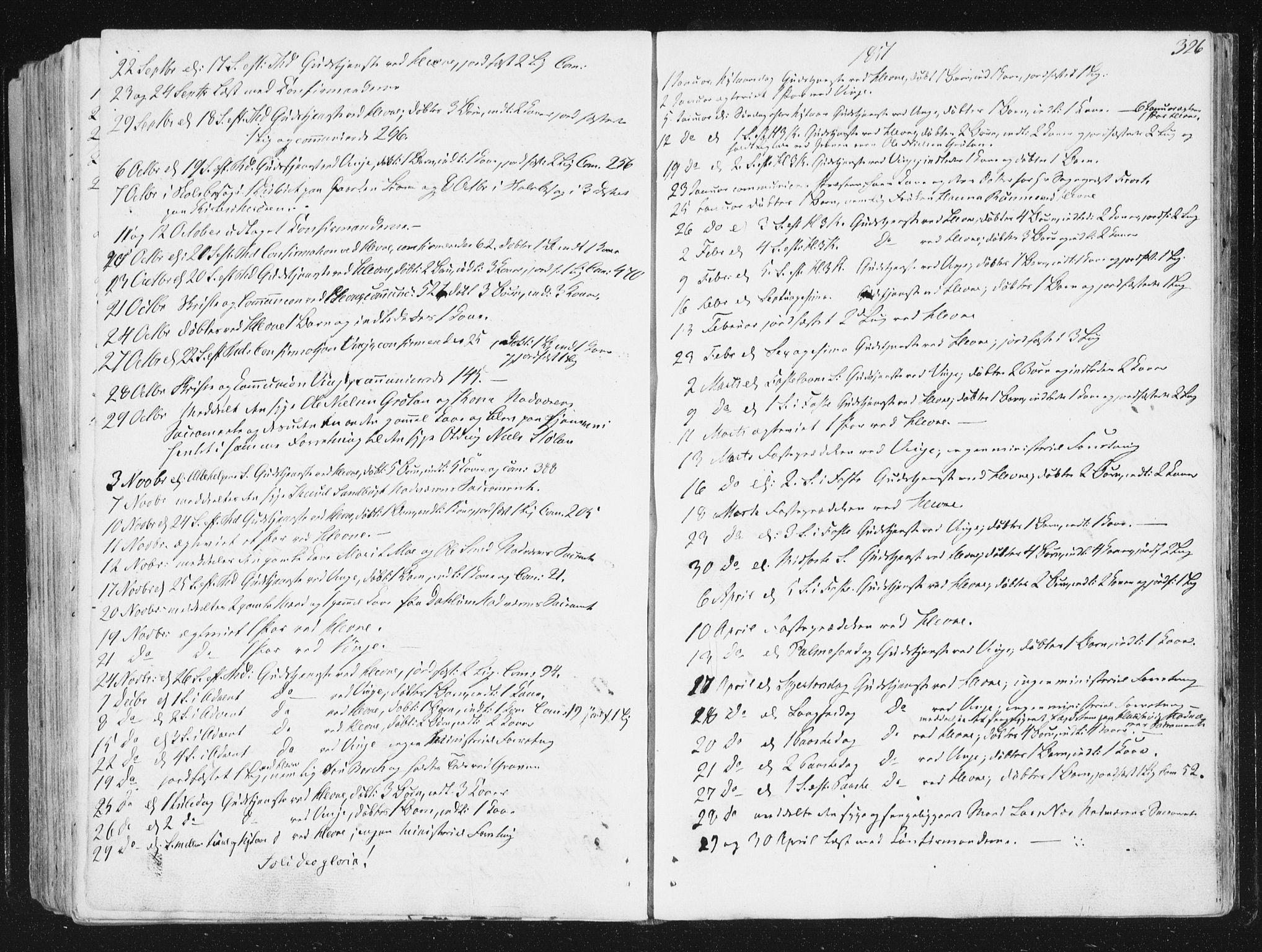 SAT, Ministerialprotokoller, klokkerbøker og fødselsregistre - Sør-Trøndelag, 630/L0493: Ministerialbok nr. 630A06, 1841-1851, s. 326