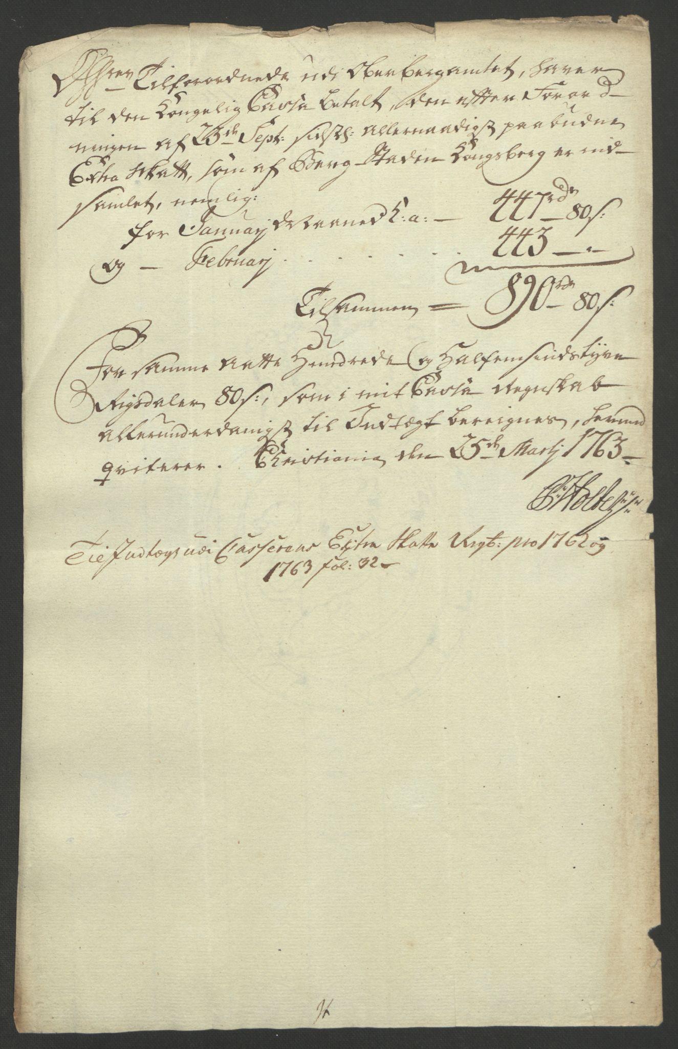 RA, Rentekammeret inntil 1814, Reviderte regnskaper, Bergverksregnskaper, R/Rc/Rca/L0843: Ekstraskatt, 1762-1765, s. 600