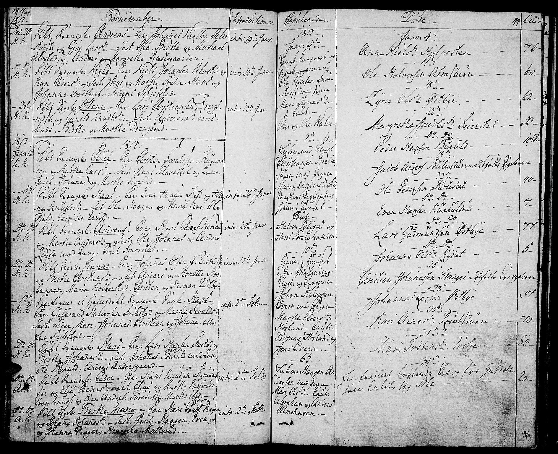 SAH, Toten prestekontor, Ministerialbok nr. 8, 1809-1814, s. 44