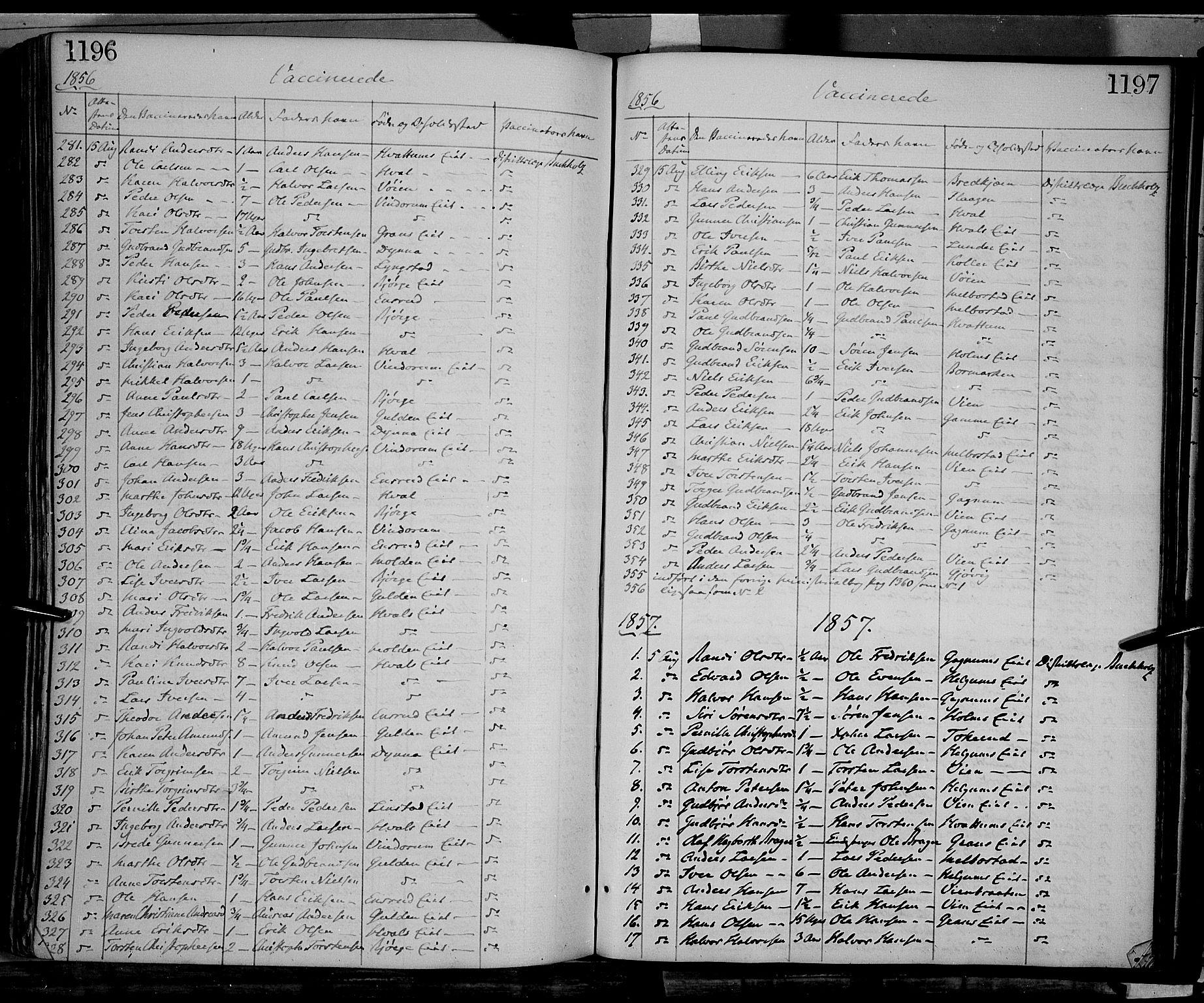 SAH, Gran prestekontor, Ministerialbok nr. 12, 1856-1874, s. 1196-1197
