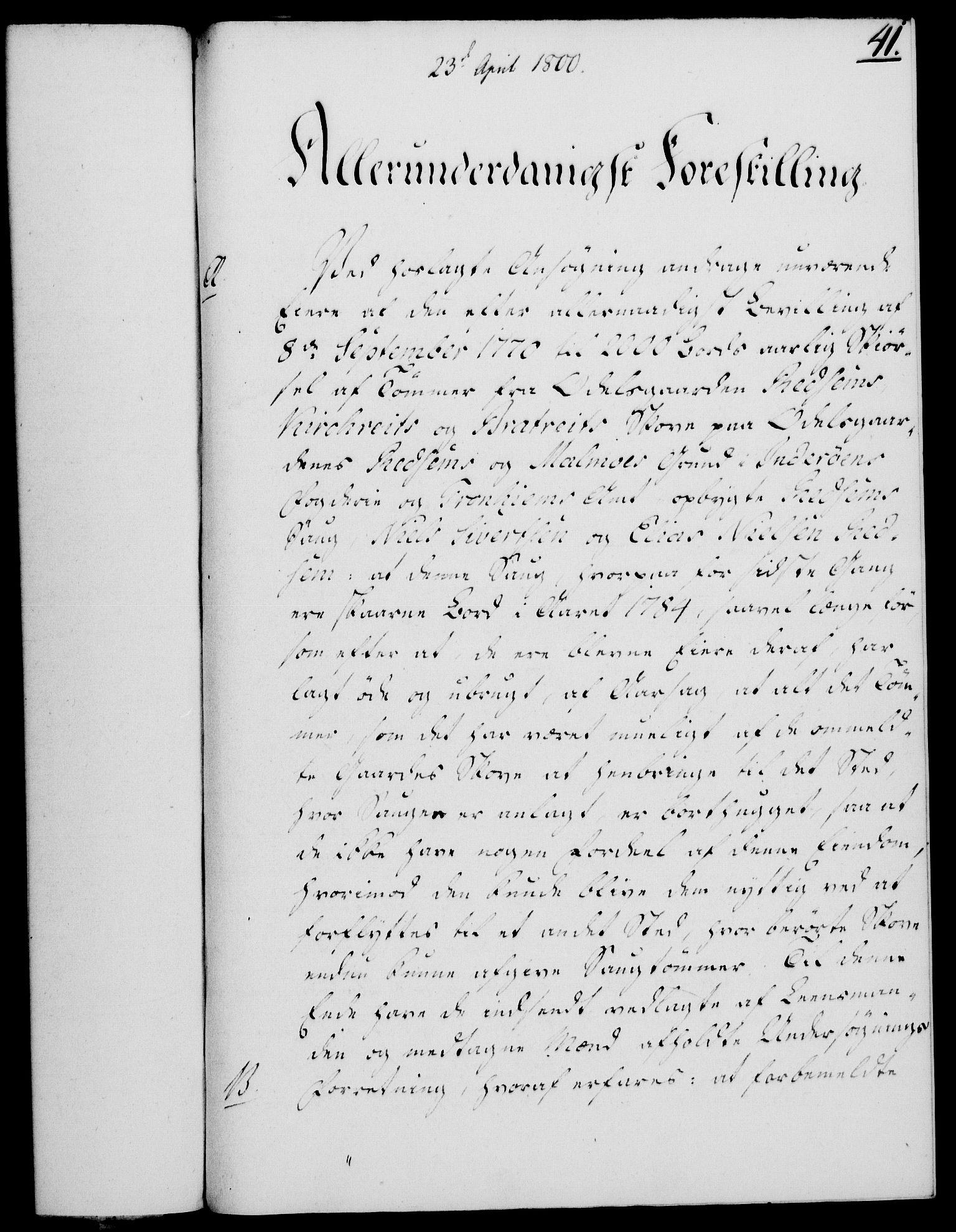 RA, Rentekammeret, Kammerkanselliet, G/Gf/Gfa/L0082: Norsk relasjons- og resolusjonsprotokoll (merket RK 52.82), 1800, s. 261