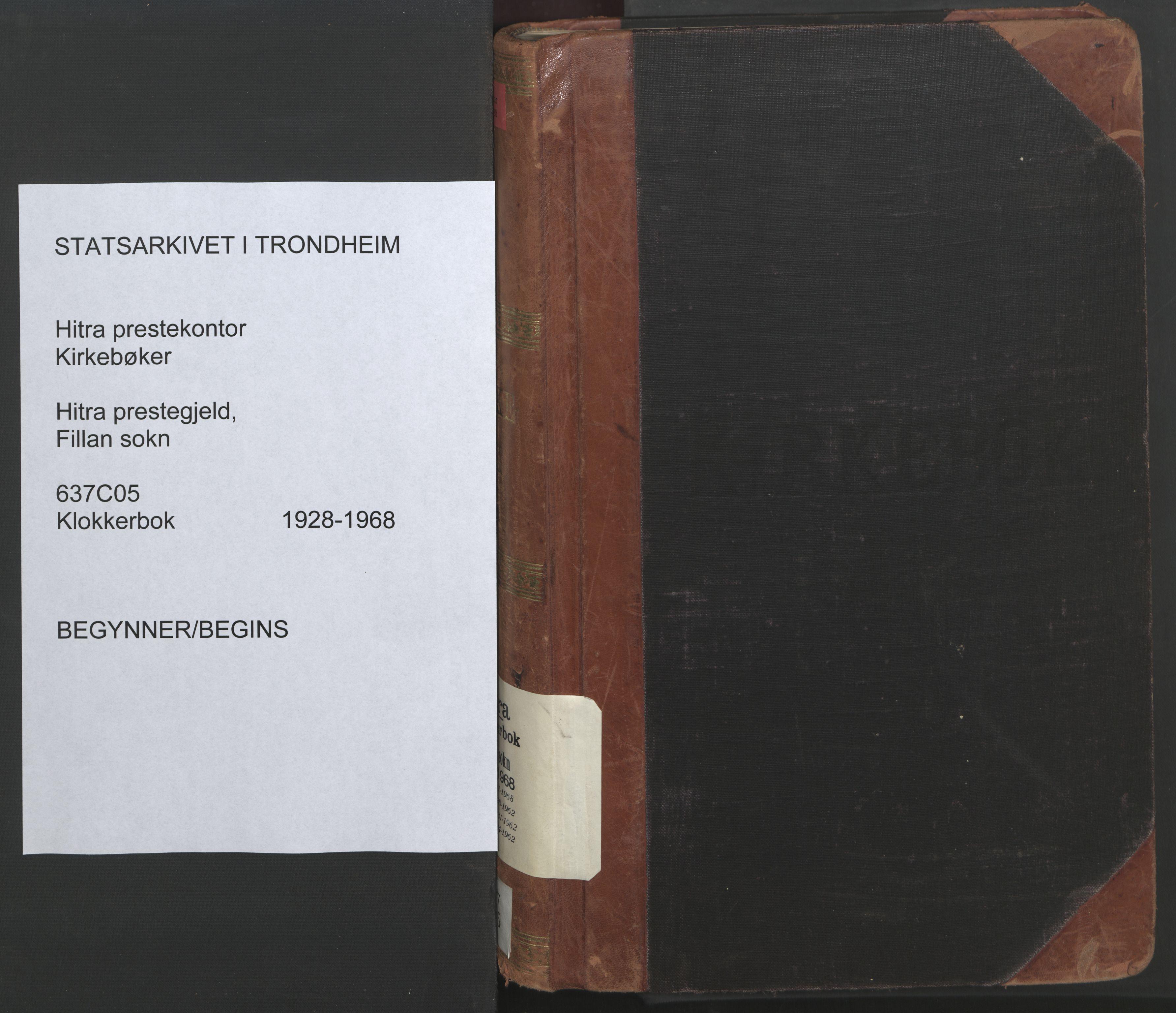 SAT, Ministerialprotokoller, klokkerbøker og fødselsregistre - Sør-Trøndelag, 637/L0564: Klokkerbok nr. 637C05, 1928-1968