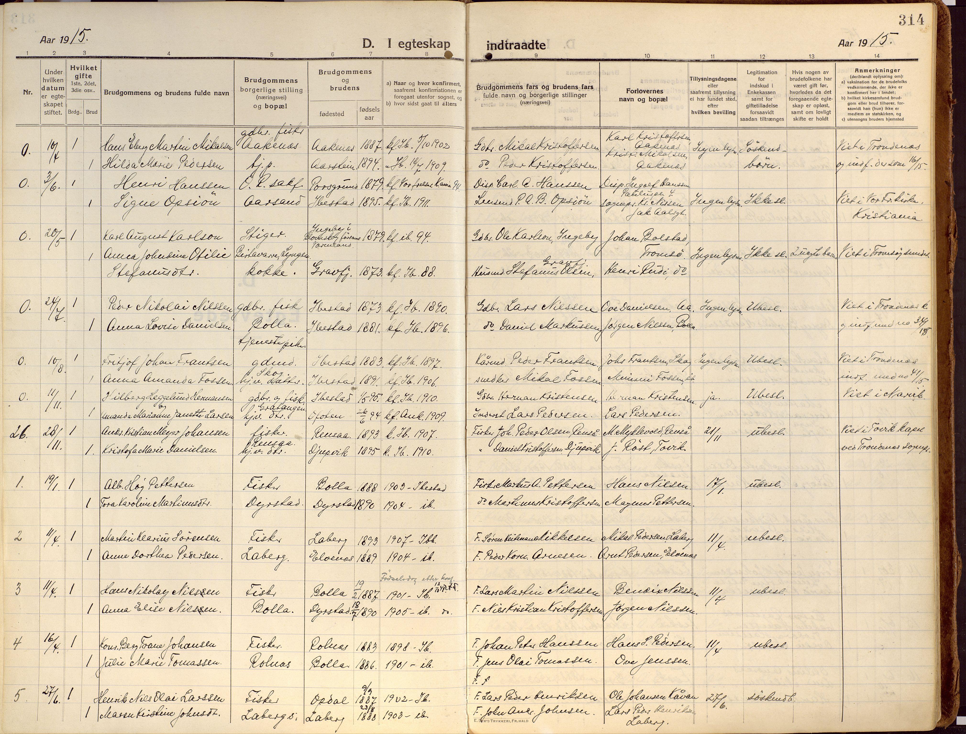 SATØ, Ibestad sokneprestembete, Ministerialbok nr. 18, 1915-1929, s. 314