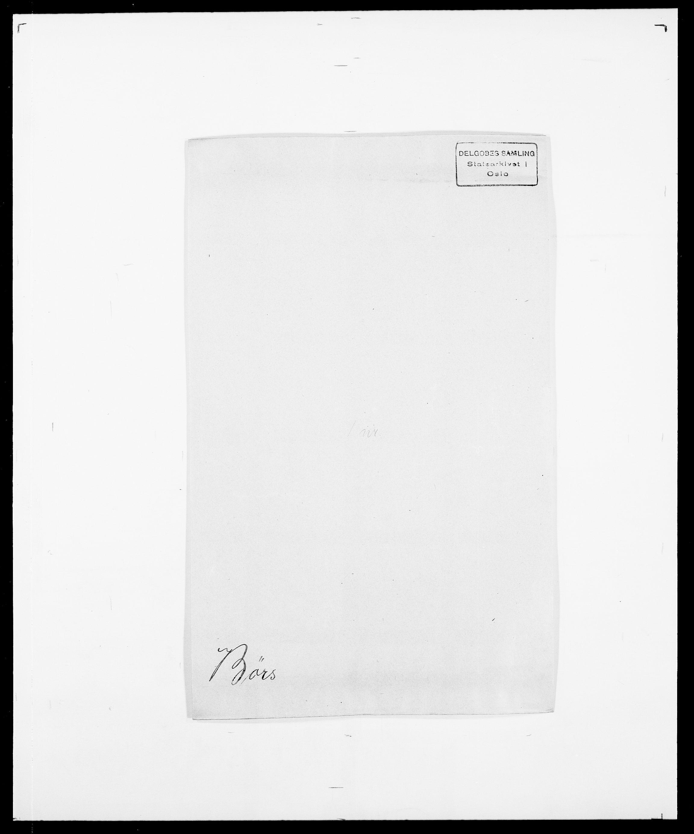 SAO, Delgobe, Charles Antoine - samling, D/Da/L0007: Buaas - Caphengst, s. 781