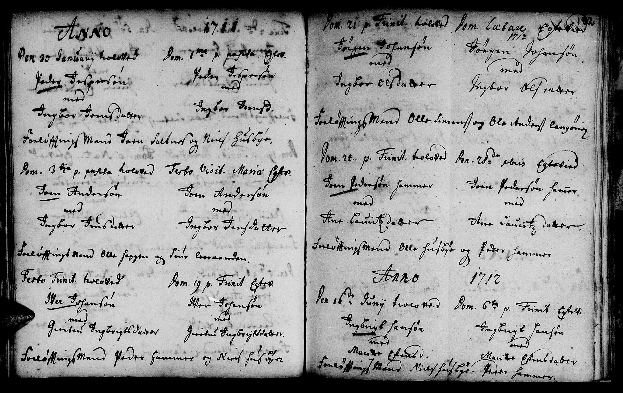 SAT, Ministerialprotokoller, klokkerbøker og fødselsregistre - Sør-Trøndelag, 666/L0783: Ministerialbok nr. 666A01, 1702-1753, s. 182