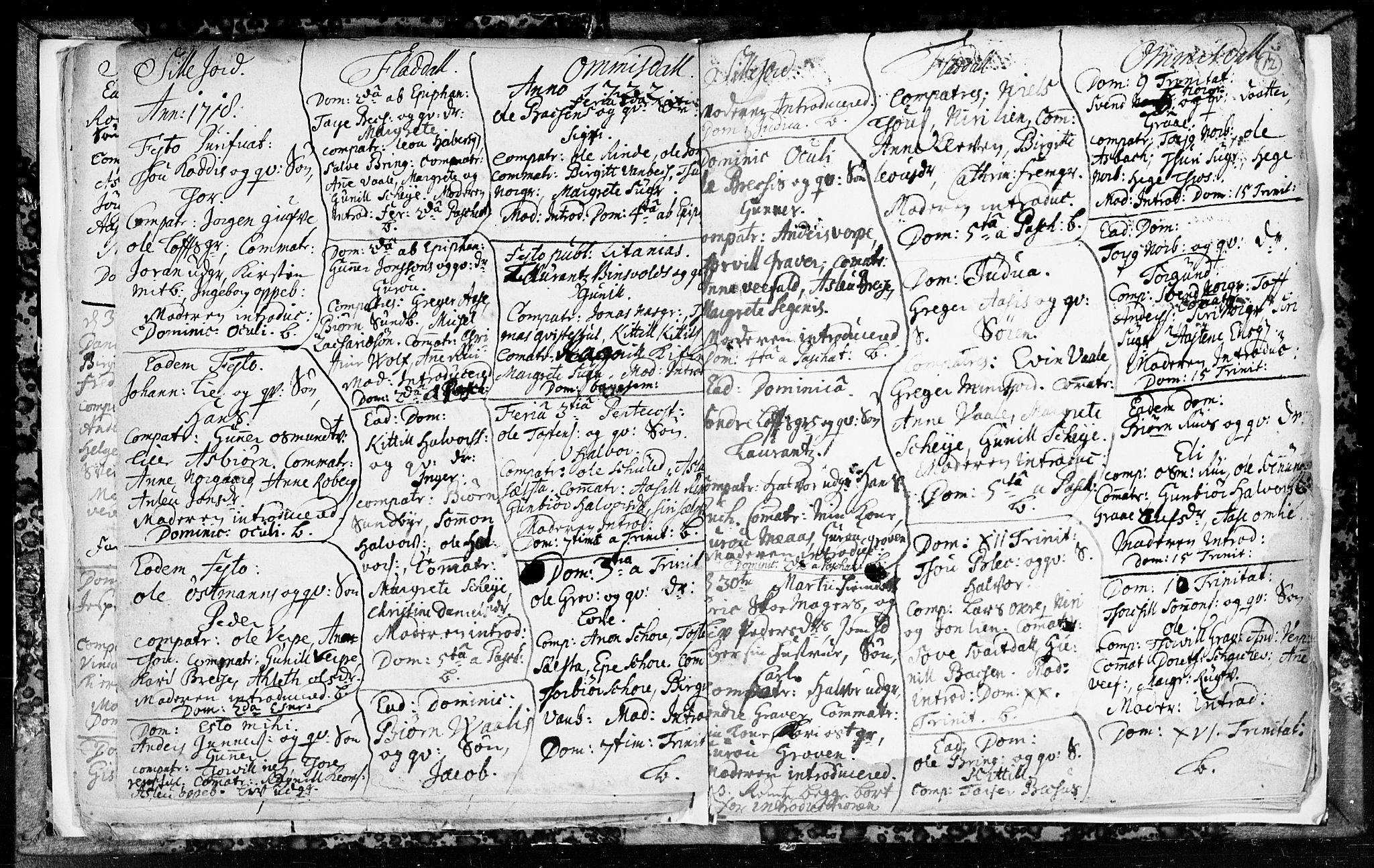 SAKO, Seljord kirkebøker, F/Fa/L0003: Ministerialbok nr. I 3, 1714-1725, s. 12