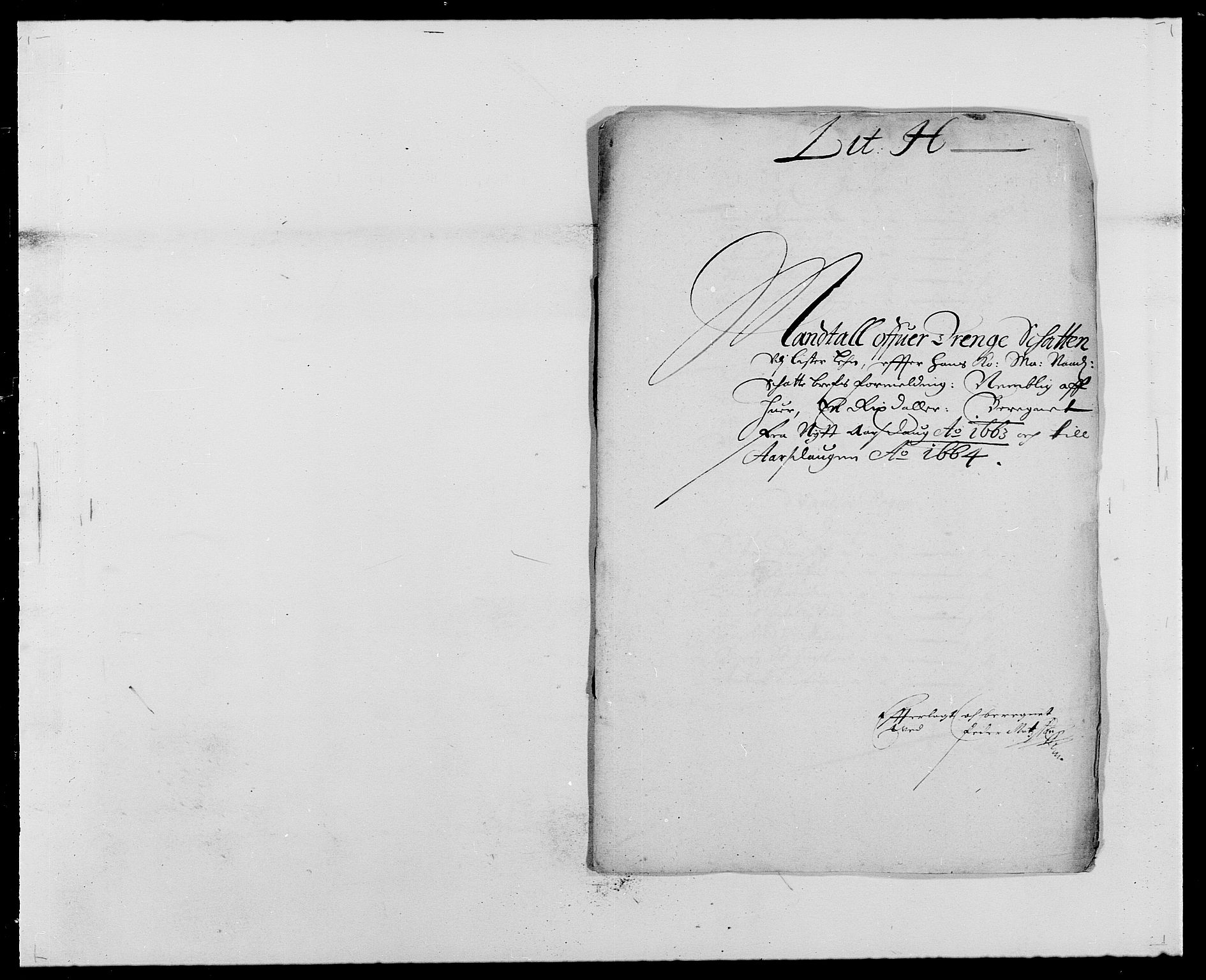 RA, Rentekammeret inntil 1814, Reviderte regnskaper, Fogderegnskap, R41/L2523: Fogderegnskap Lista, 1663-1664, s. 154
