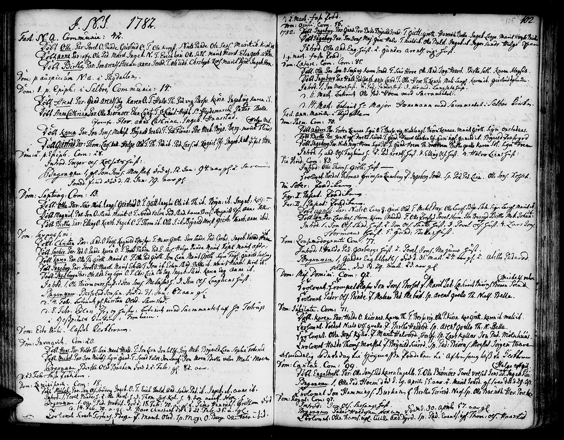SAT, Ministerialprotokoller, klokkerbøker og fødselsregistre - Sør-Trøndelag, 695/L1138: Ministerialbok nr. 695A02 /1, 1757-1801, s. 105