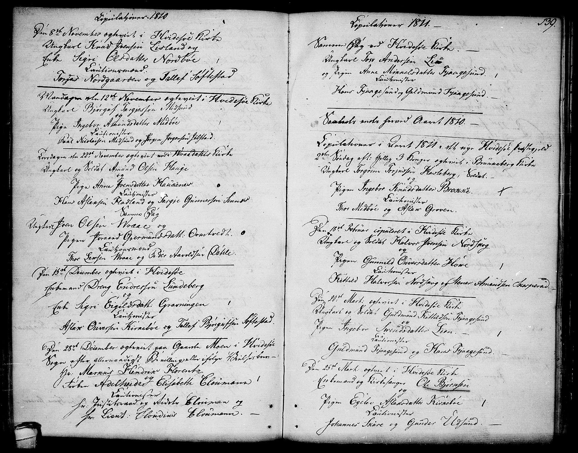SAKO, Kviteseid kirkebøker, F/Fa/L0004: Ministerialbok nr. I 4, 1800-1814, s. 139