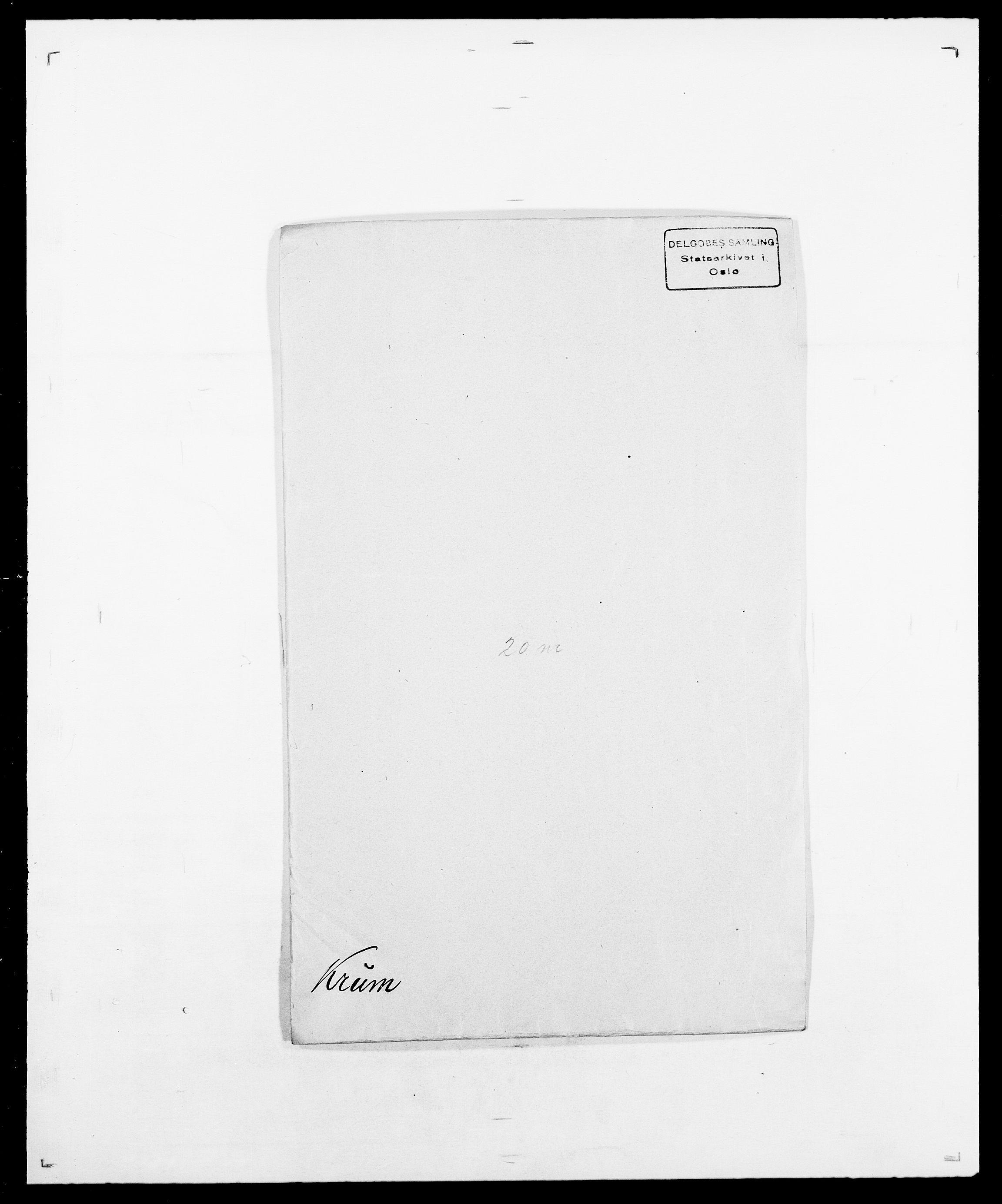 SAO, Delgobe, Charles Antoine - samling, D/Da/L0022: Krog - Lasteen, s. 110