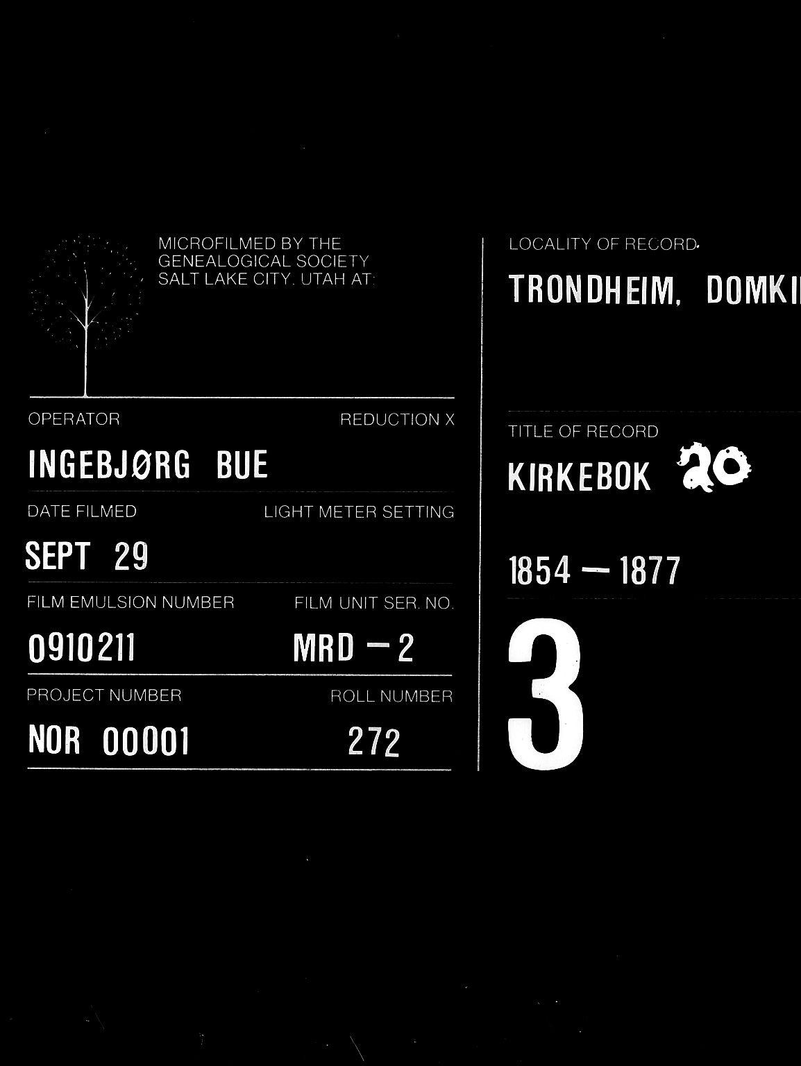 SAT, Ministerialprotokoller, klokkerbøker og fødselsregistre - Sør-Trøndelag, 601/L0089: Klokkerbok nr. 601C07, 1854-1877