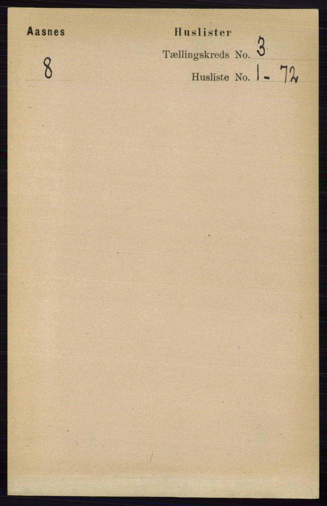 RA, Folketelling 1891 for 0425 Åsnes herred, 1891, s. 952