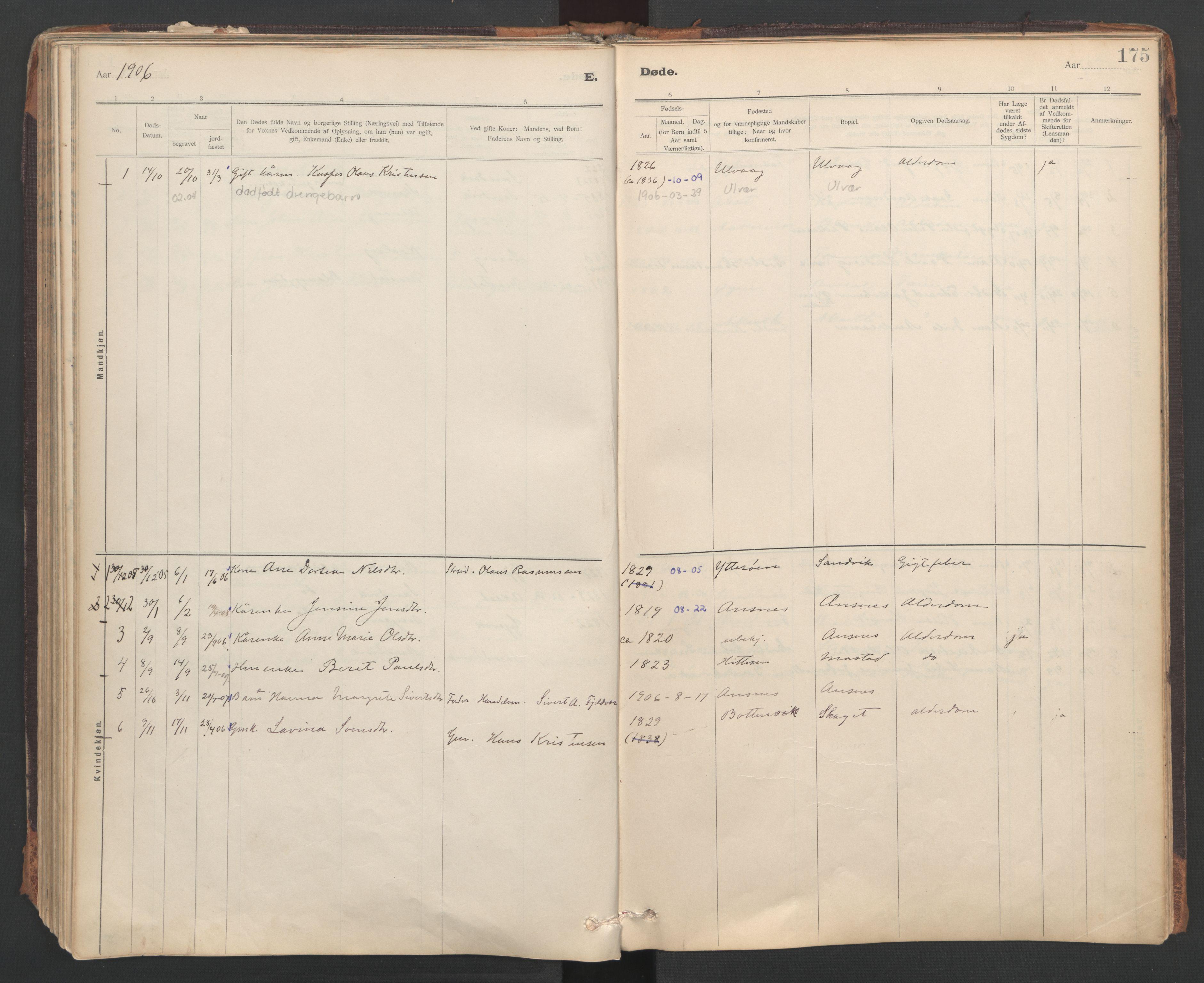 SAT, Ministerialprotokoller, klokkerbøker og fødselsregistre - Sør-Trøndelag, 637/L0559: Ministerialbok nr. 637A02, 1899-1923, s. 175