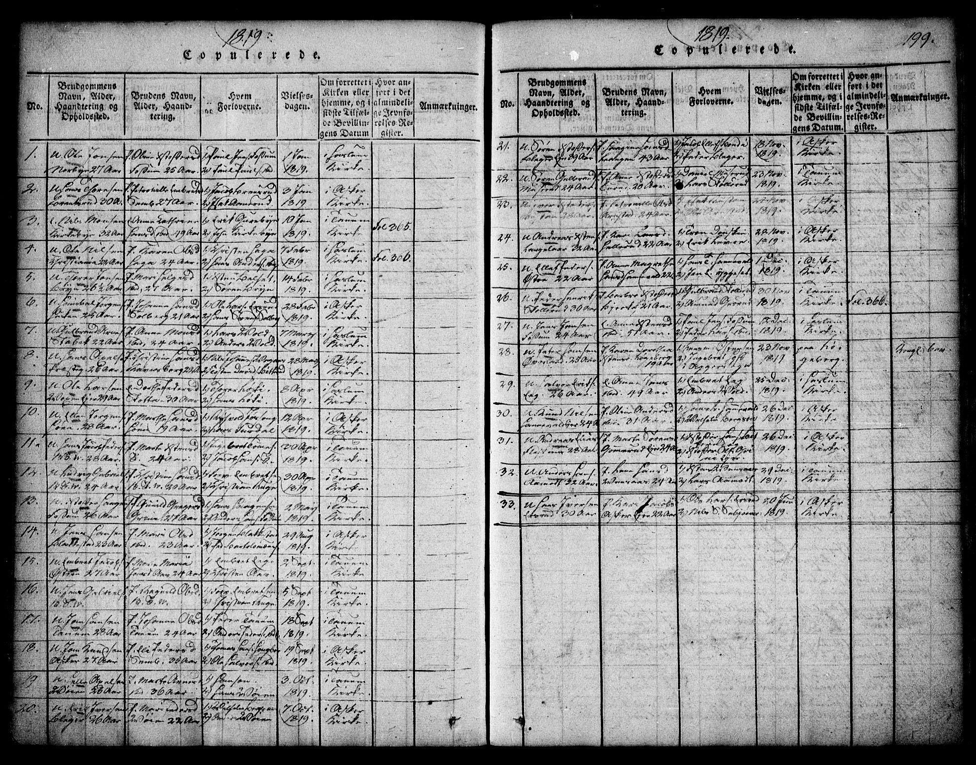 SAO, Asker prestekontor Kirkebøker, F/Fa/L0006: Ministerialbok nr. I 6, 1814-1824, s. 199