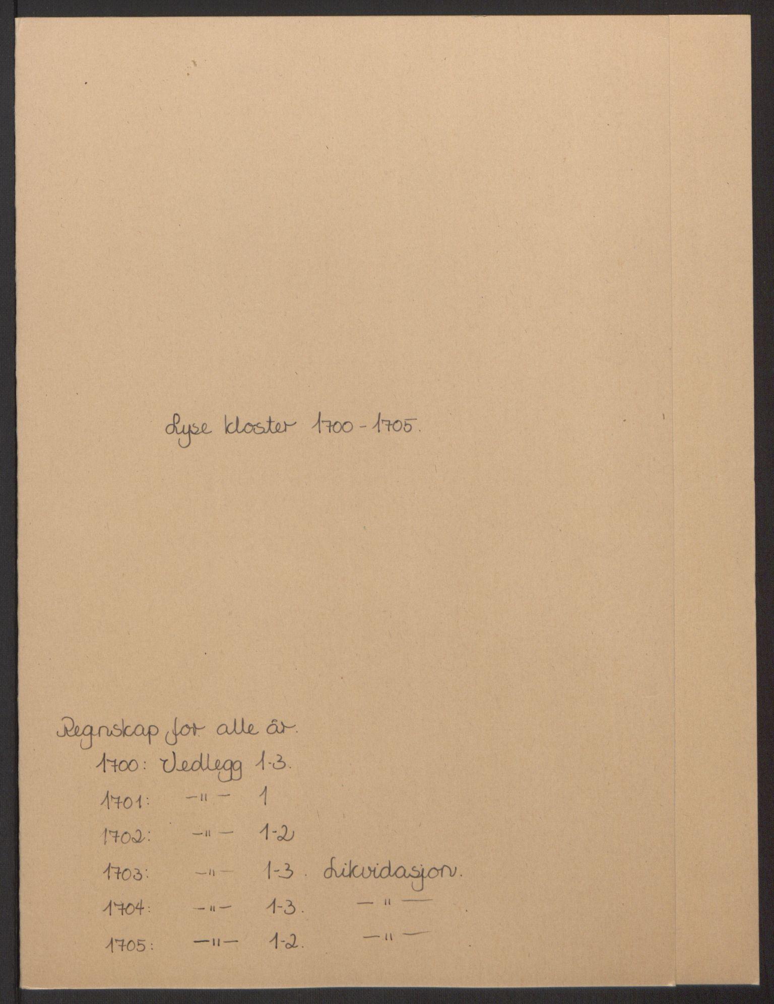 RA, Rentekammeret inntil 1814, Reviderte regnskaper, Fogderegnskap, R50/L3159: Fogderegnskap Lyse kloster, 1691-1709, s. 112