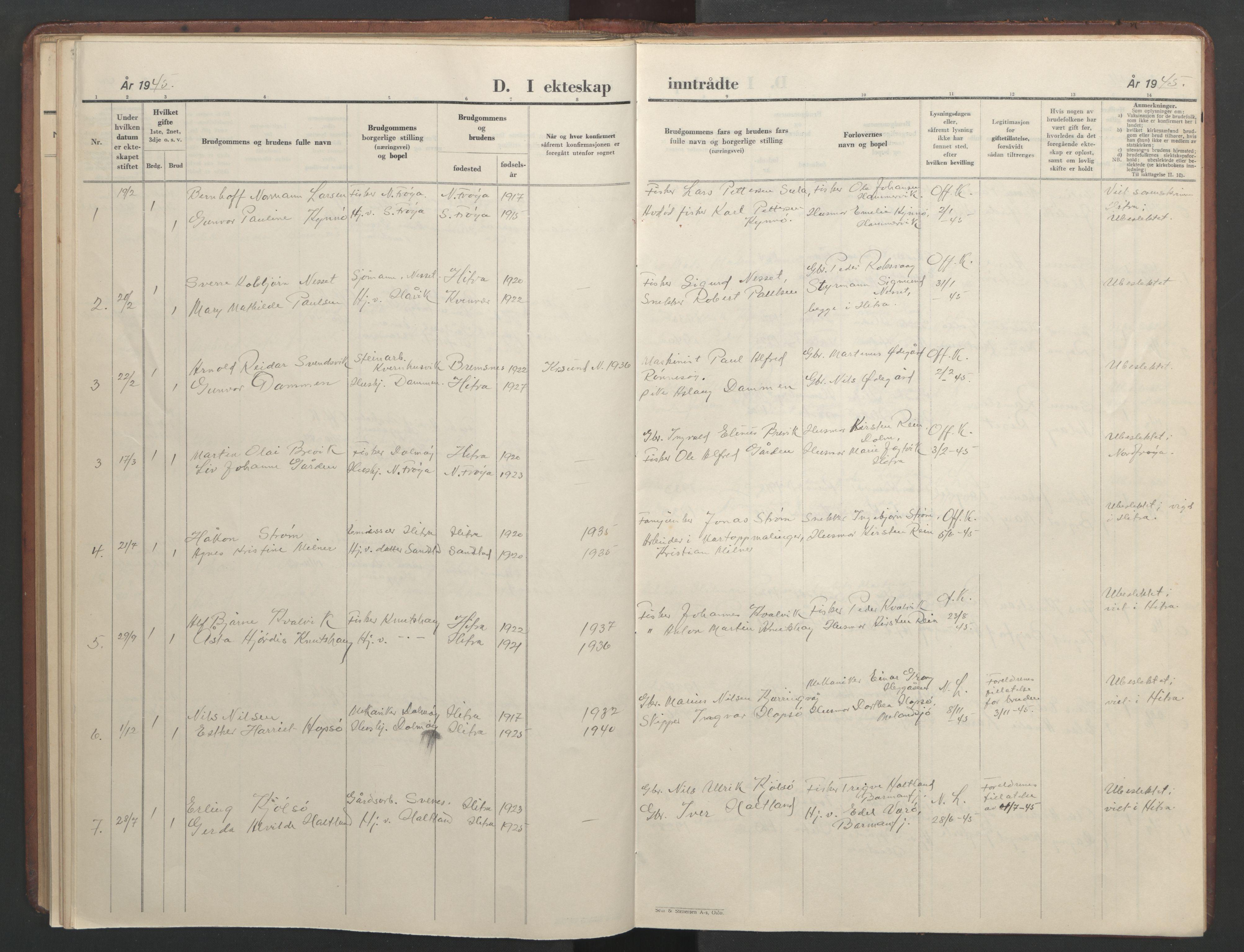 SAT, Ministerialprotokoller, klokkerbøker og fødselsregistre - Sør-Trøndelag, 634/L0544: Klokkerbok nr. 634C06, 1927-1948, s. 107