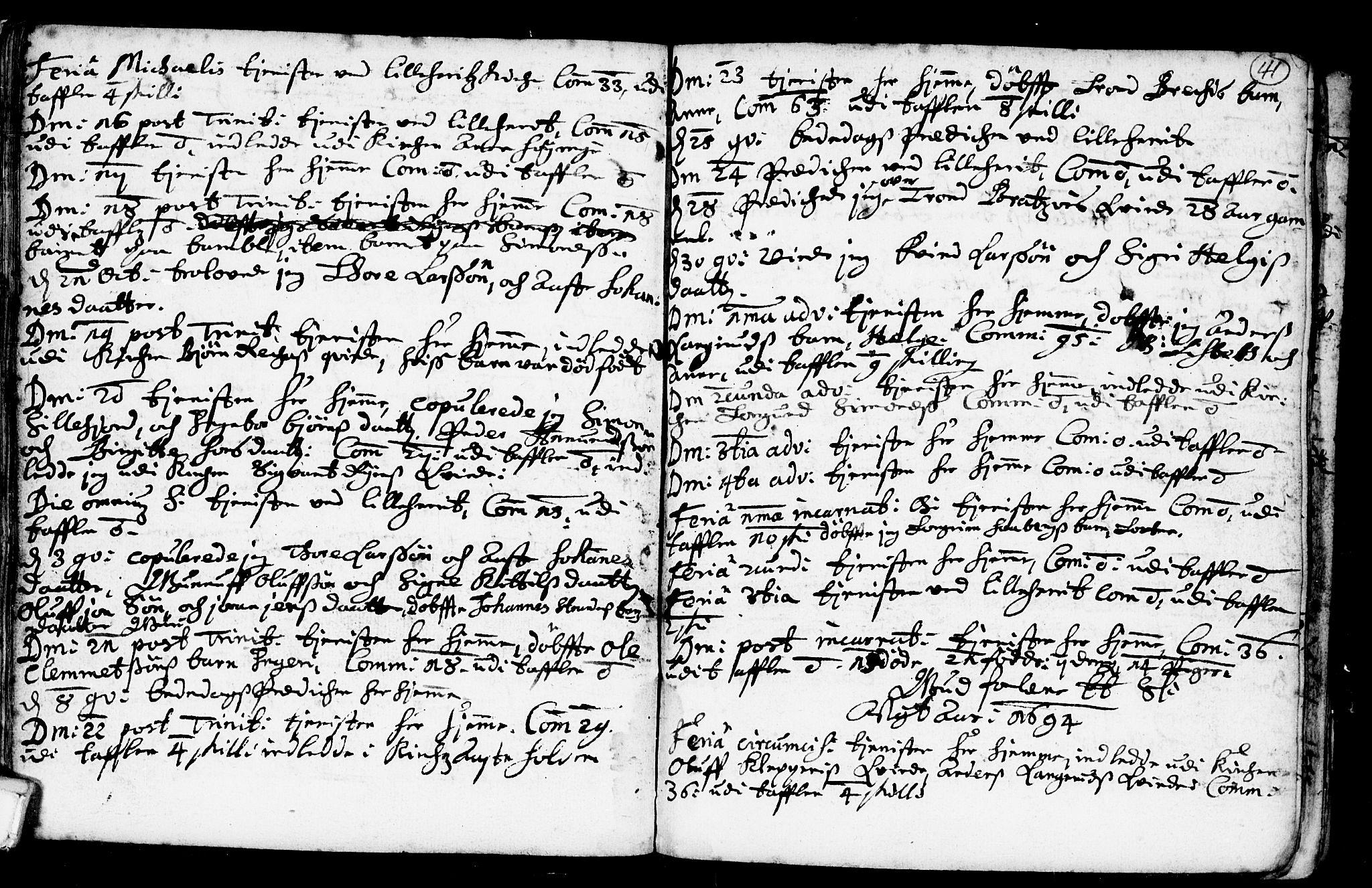 SAKO, Heddal kirkebøker, F/Fa/L0001: Ministerialbok nr. I 1, 1648-1699, s. 41