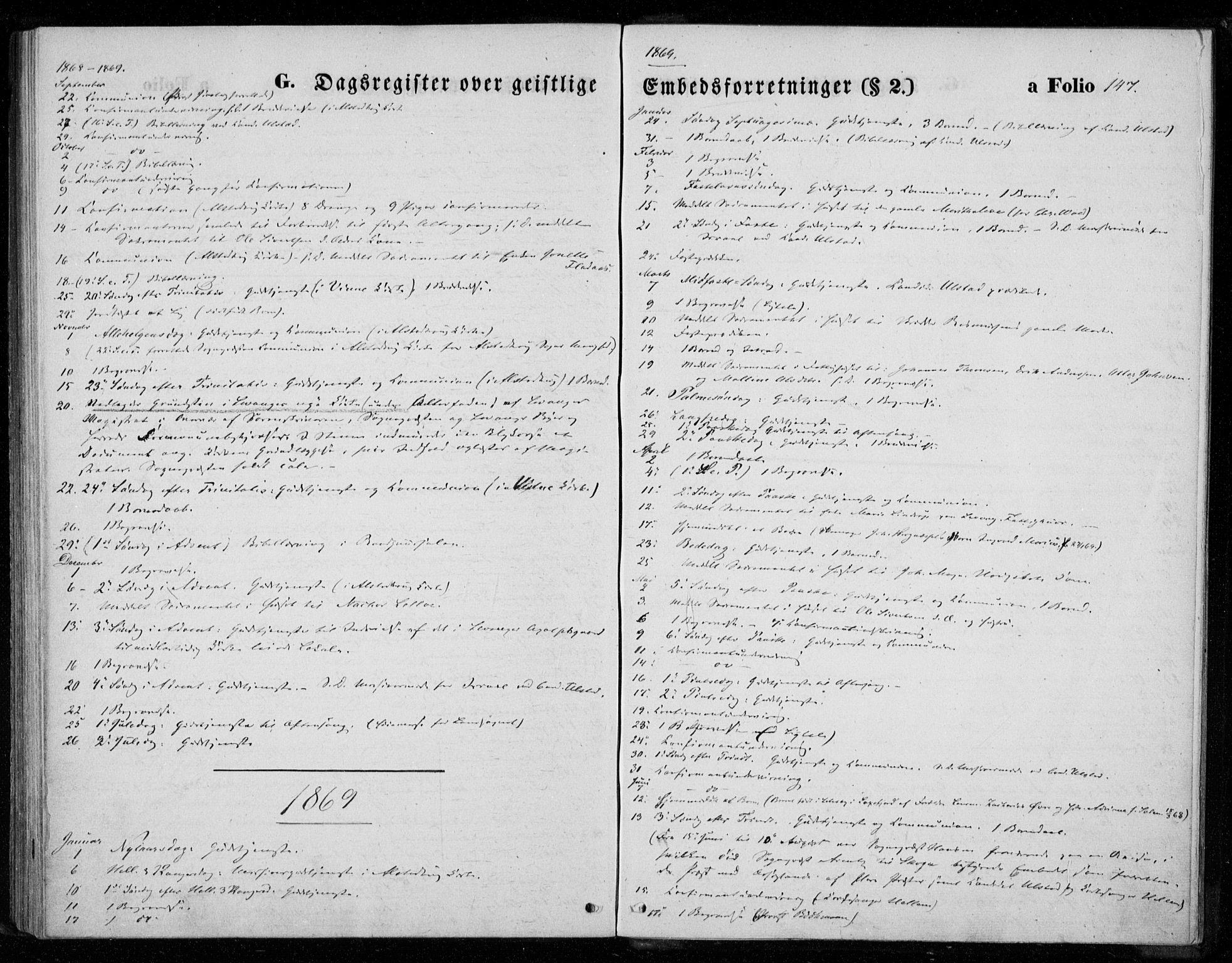 SAT, Ministerialprotokoller, klokkerbøker og fødselsregistre - Nord-Trøndelag, 720/L0186: Ministerialbok nr. 720A03, 1864-1874, s. 147