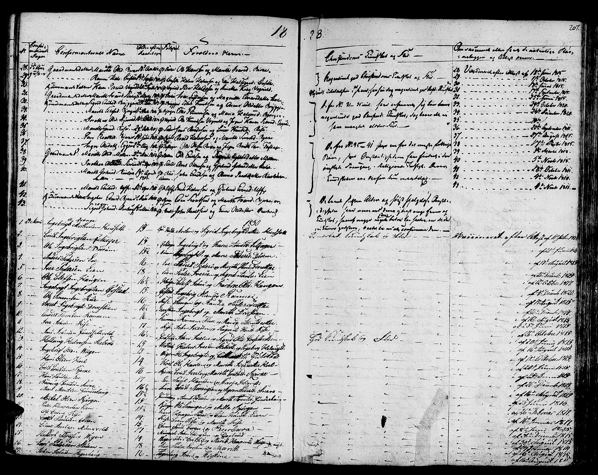 SAT, Ministerialprotokoller, klokkerbøker og fødselsregistre - Sør-Trøndelag, 678/L0897: Ministerialbok nr. 678A06-07, 1821-1847, s. 207